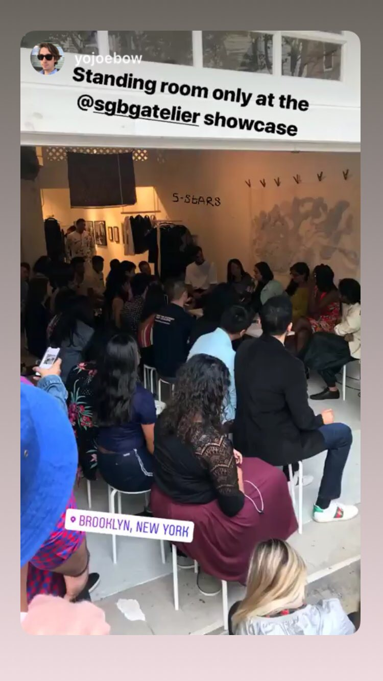 Standing room only at the SGBG Atelier showcase. Thanks @yojoebow