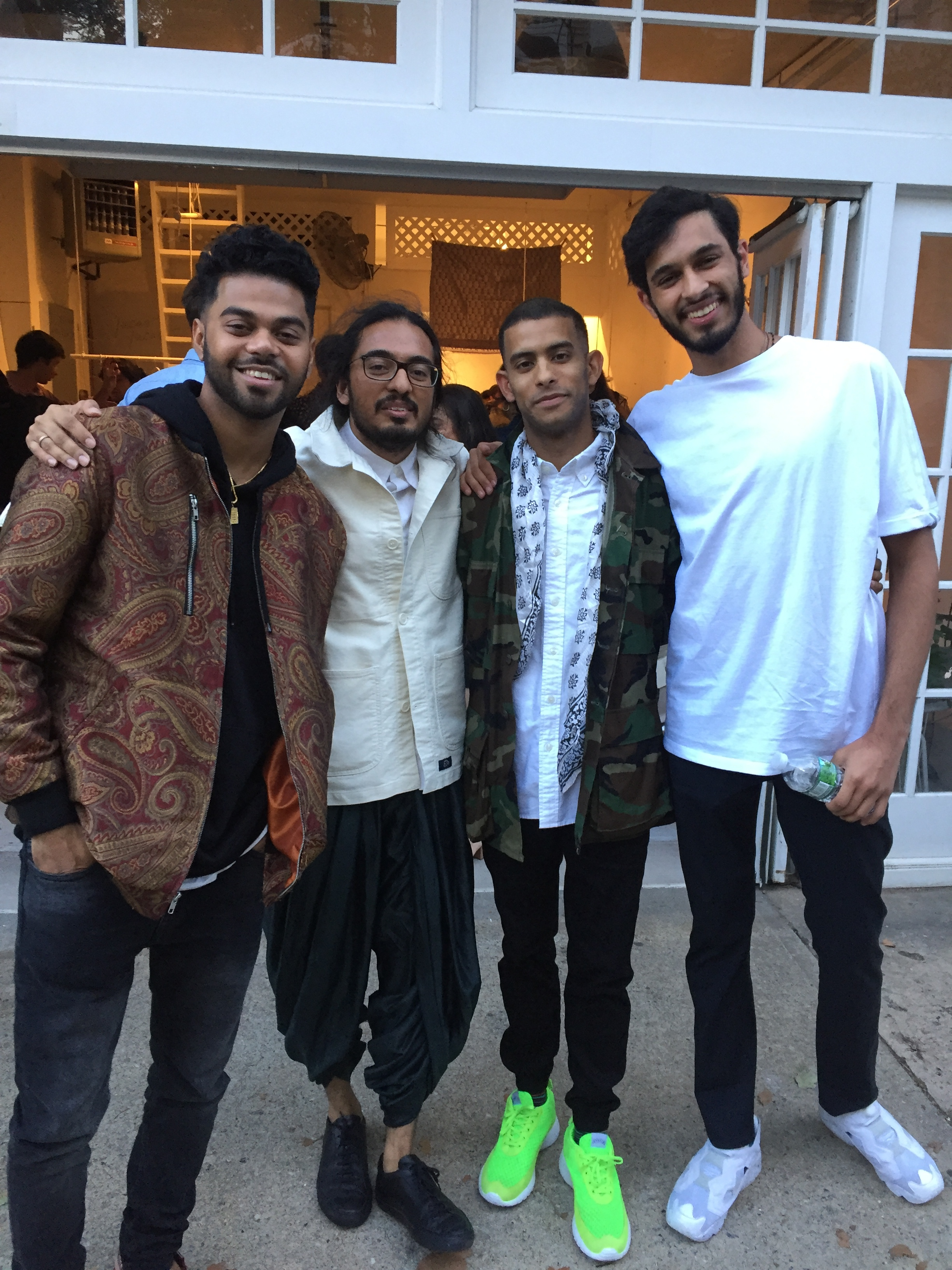 New friends & fits. Anik Khan, Surya Giri, Ani Sanyal, Archit Batlaw