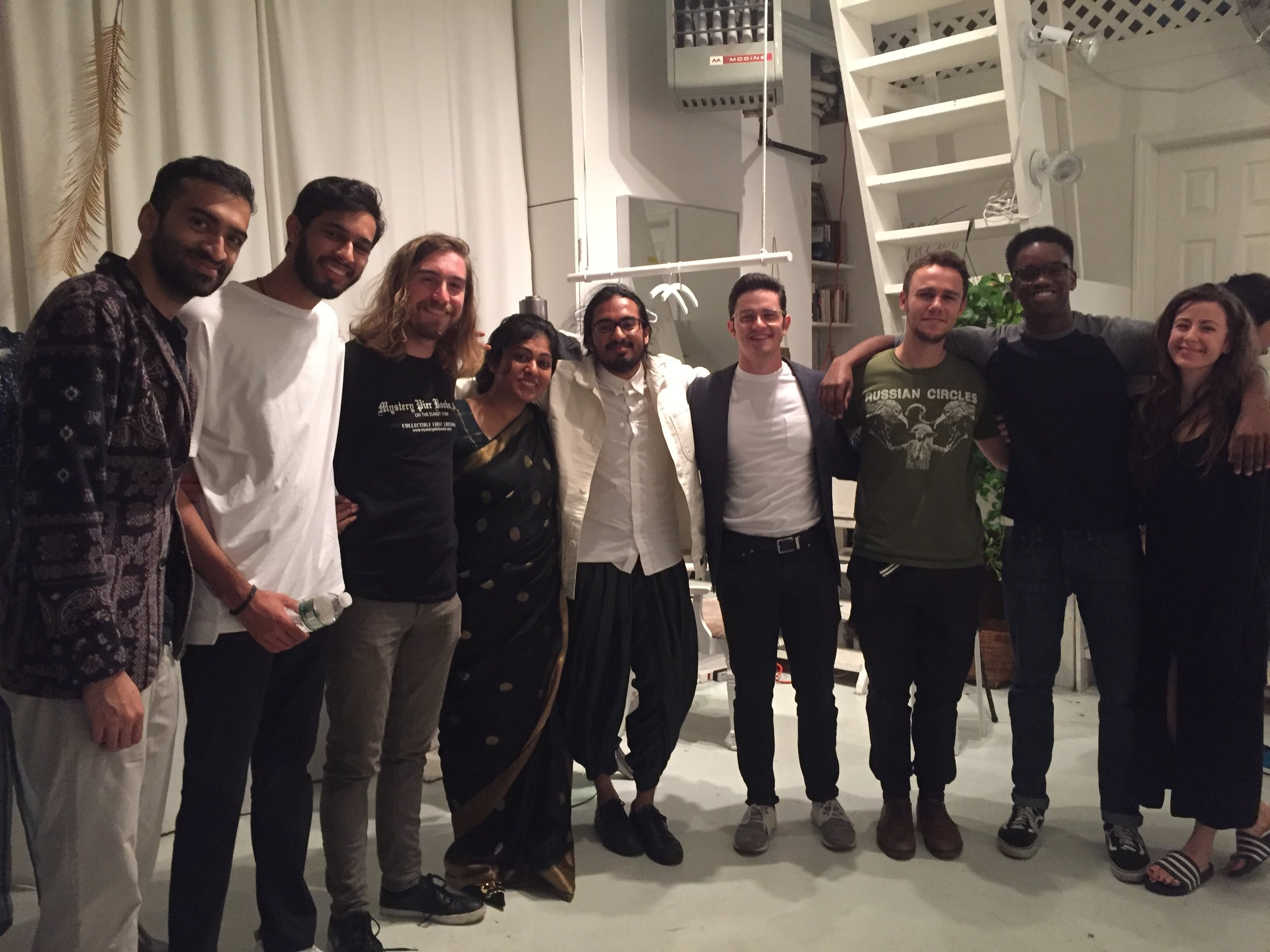 SG and BG with friends who helped us make this event happen - so thankful for each and every one of them! Jivan Gandhi, Archit Batlaw, Joe Bowman, BG, SG, Gabriel Nathan, James Kogan, LucasLucas.