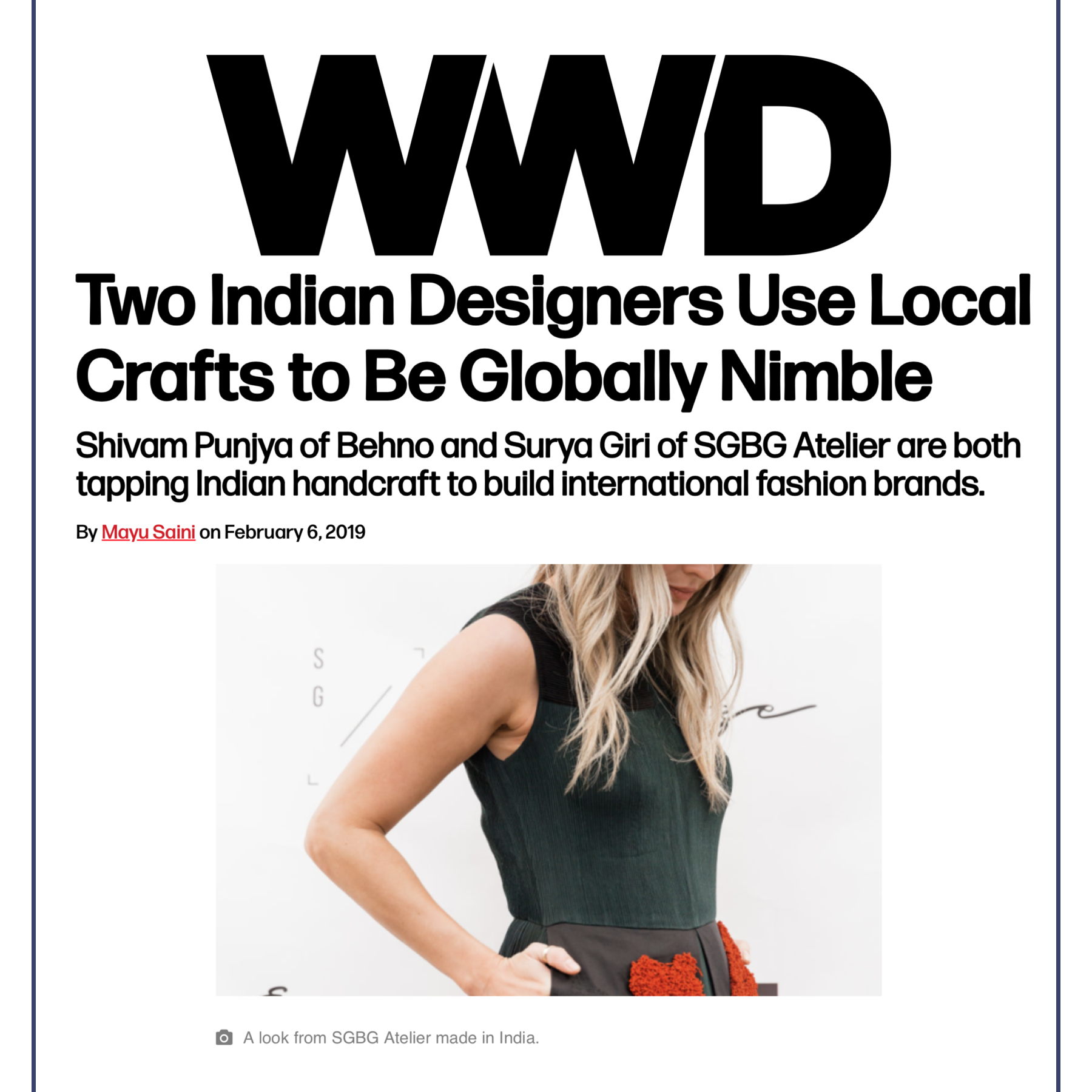 Women's Wear Daily February 2019 FEATURE // Online