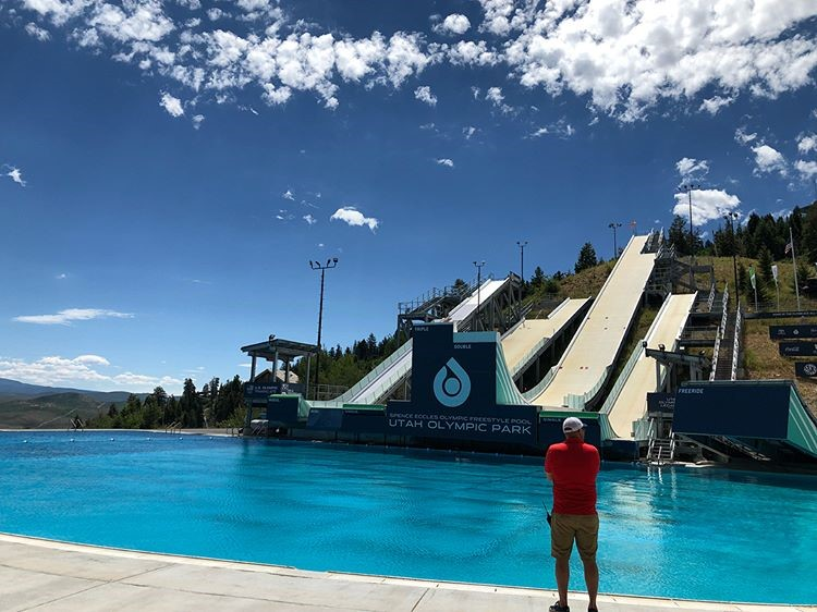 - We had a very successful and fun trip to Park City, Utah to train on world class water ramps and a new progressive airbag.  Thanks to Coach Andre for the training and to Ron G. for doing all the driving!