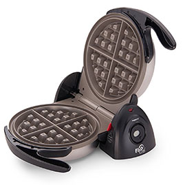 CERAMIC WAFFLE IRON   Waffles anyone? This is a pretty good little waffle iron. The husband and I use it with great regularity. Check out my recipe * here *.