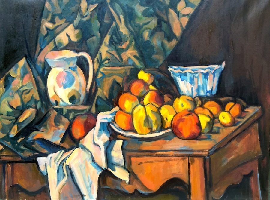 """Copy of Paul Cezanne's  """"Still Life with Apples and Peaches"""""""