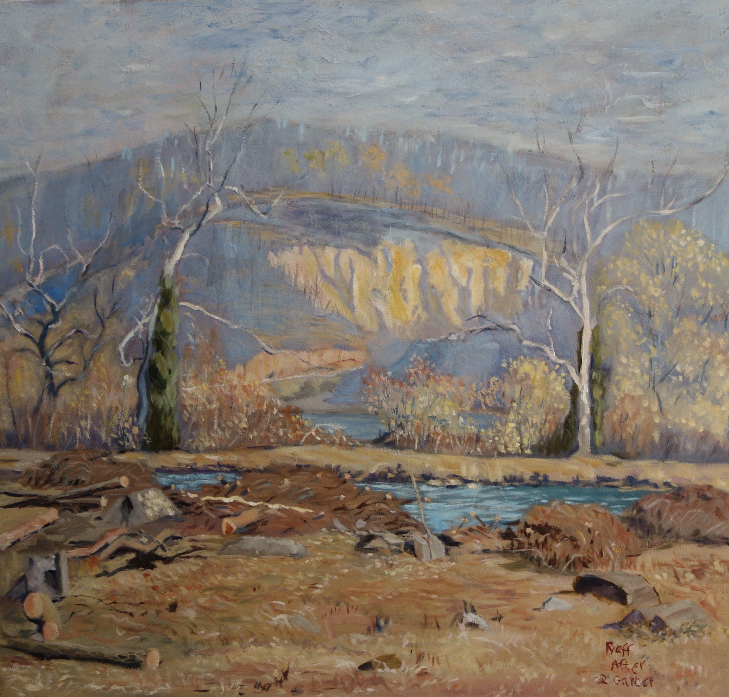 """Study of Richard Garber's  """"April Landscape"""""""
