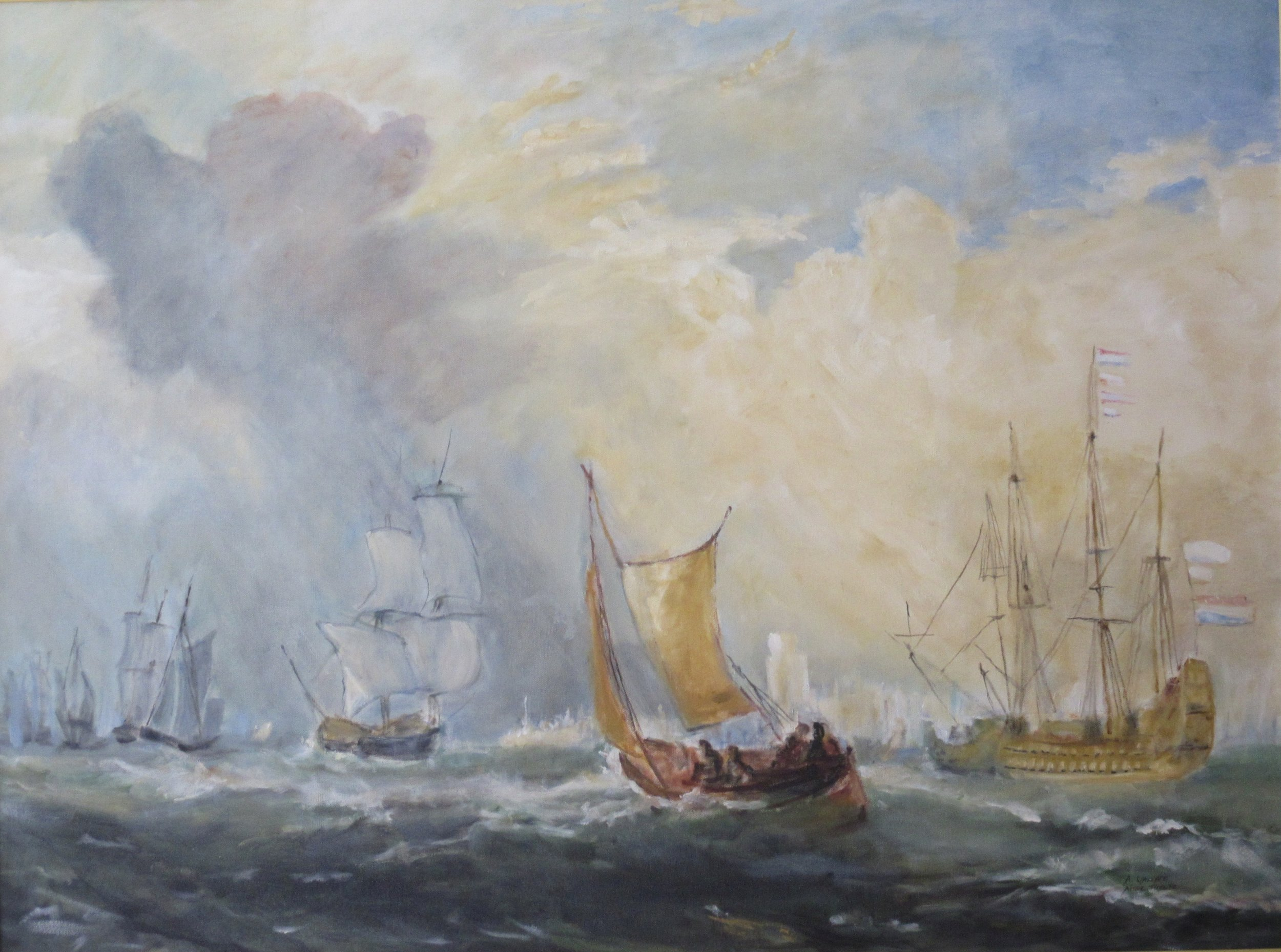 "Copy of Joseph Turner's ,  ""Rotterdam Ferry-Boat"""