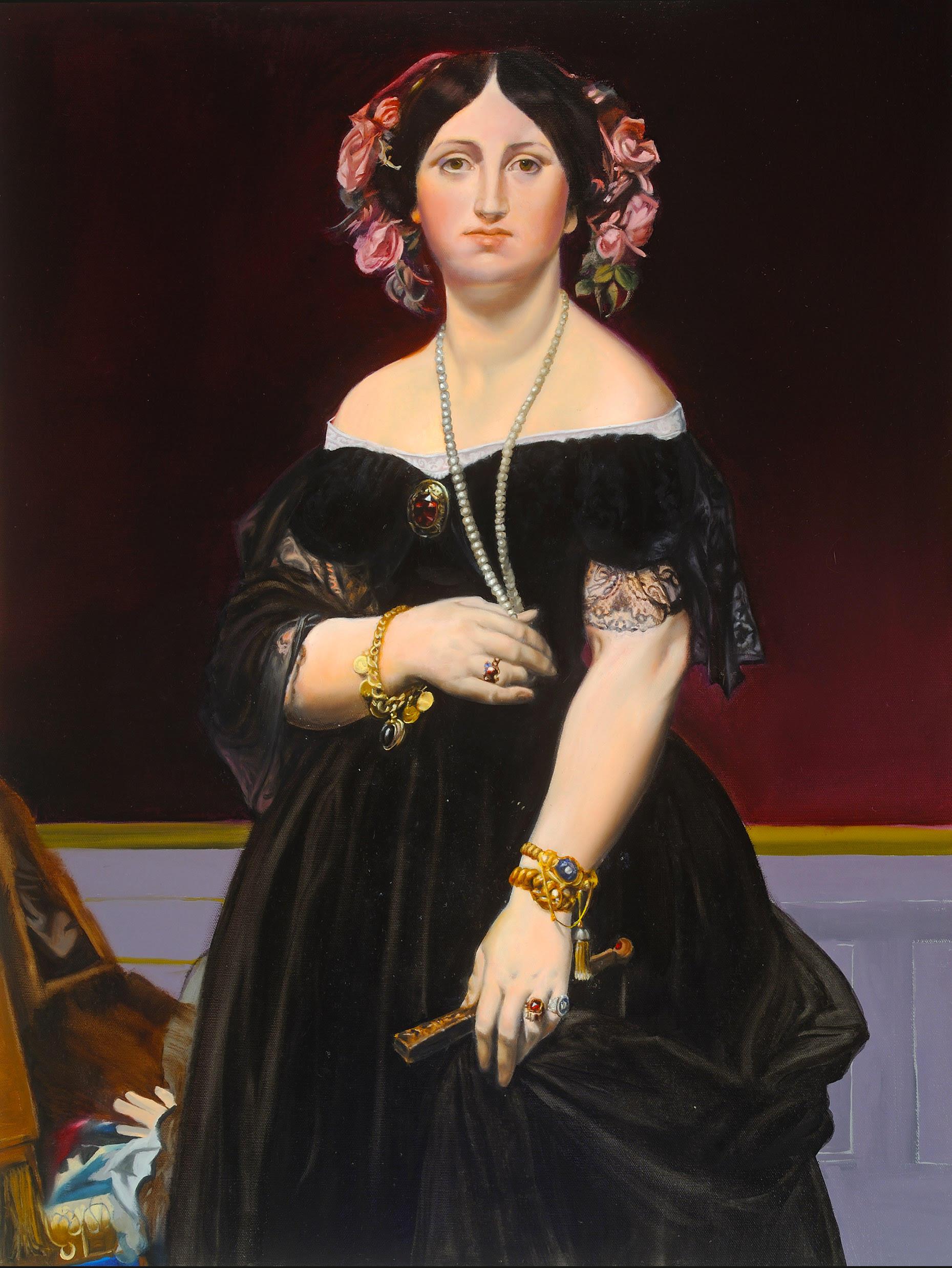 "Copy of Jean-Auguste-Dominique Ingres ""Madame Moitessier"""