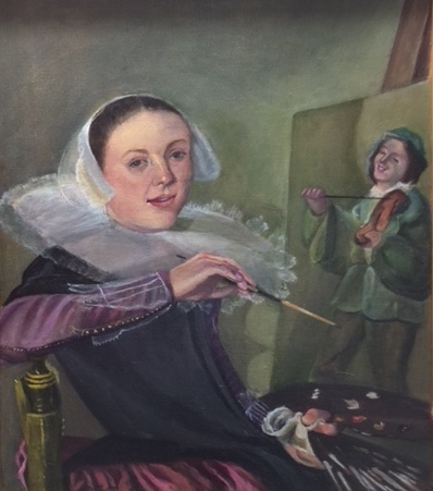 "Copy of Leyster's  ""Self Portrait"""