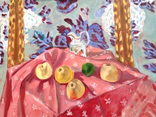 "Copy of Henri Matisse's  ""Still Life with Apples on a Pink Tablecloth"""
