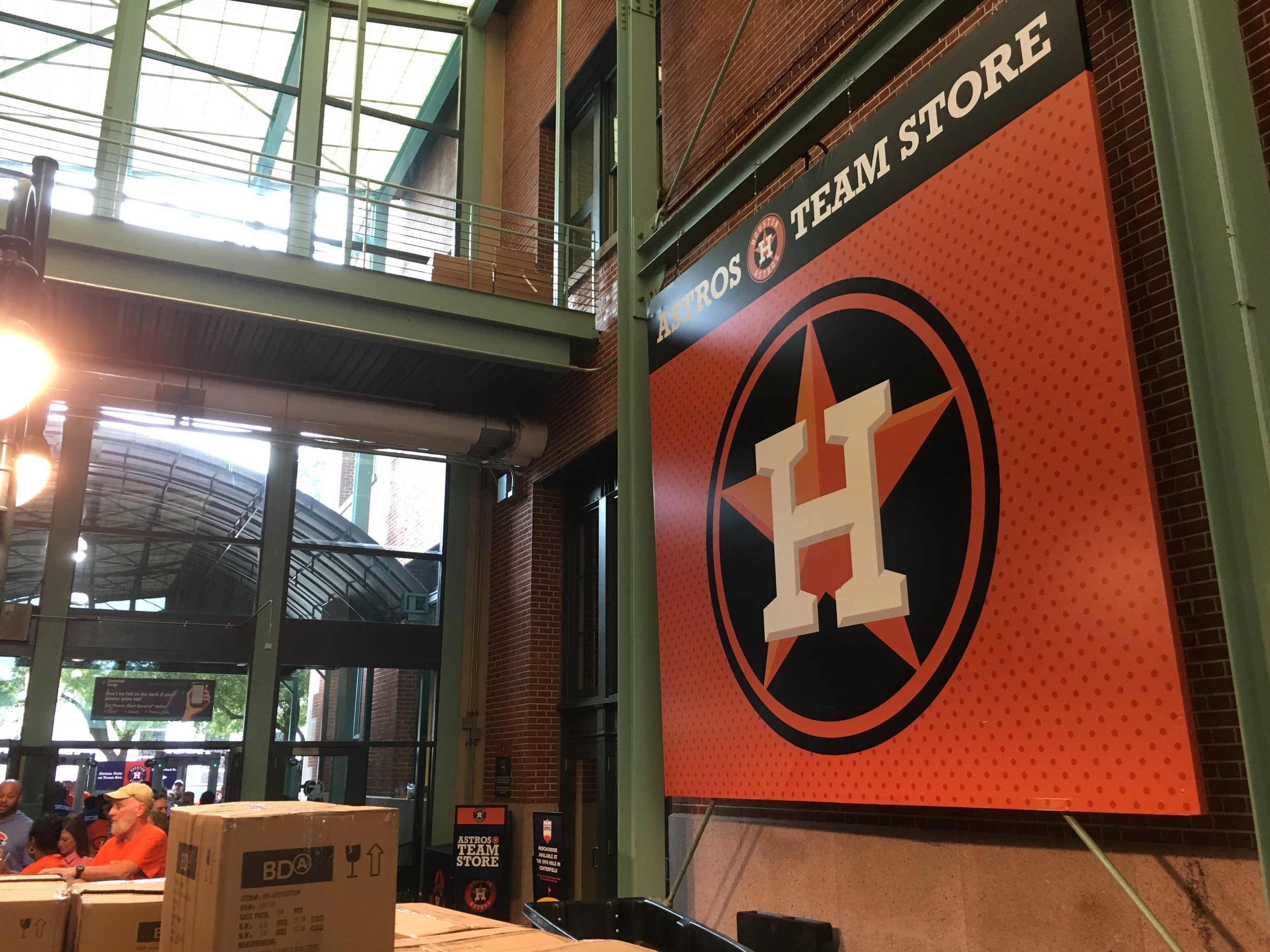 Astros main Team Store right next to the Atrium Gate