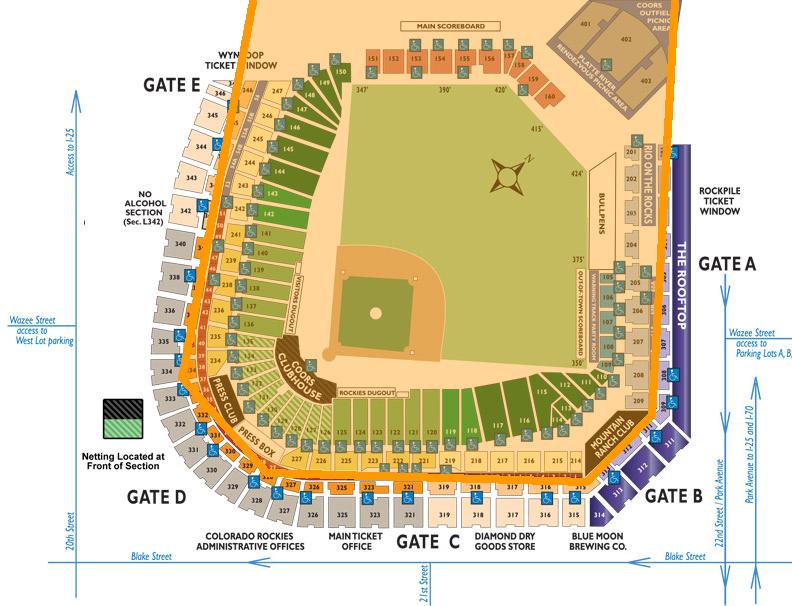 *Orange area indicates sun exposure    edited from source: http://m.rockies.mlb.com/promo/seating_map