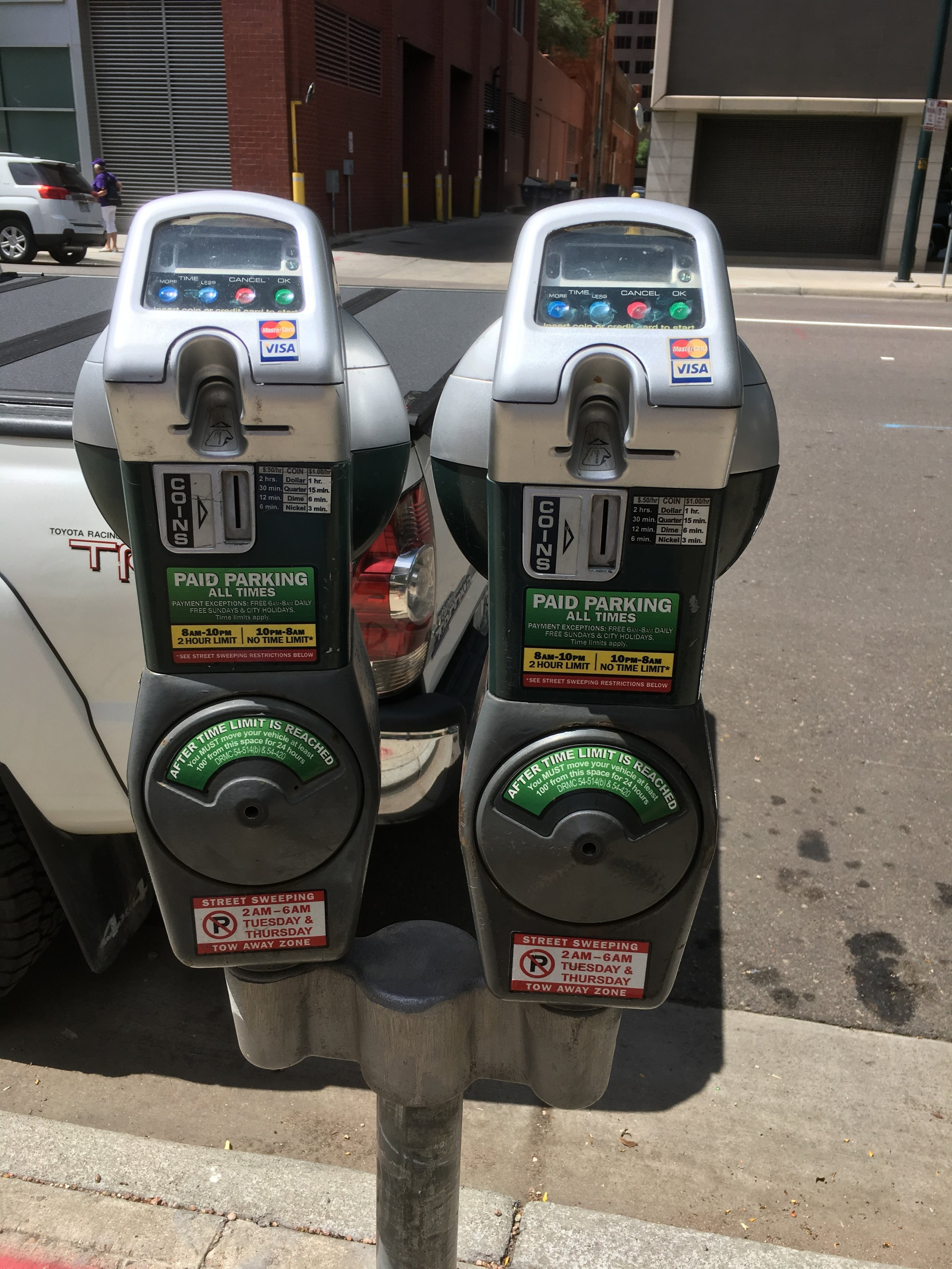 19th Street parking meters, looks like they take credit card