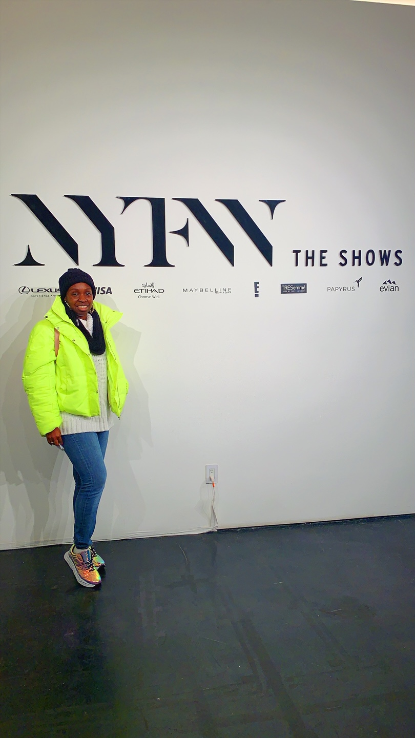 Standing in the Lobby of NYFW