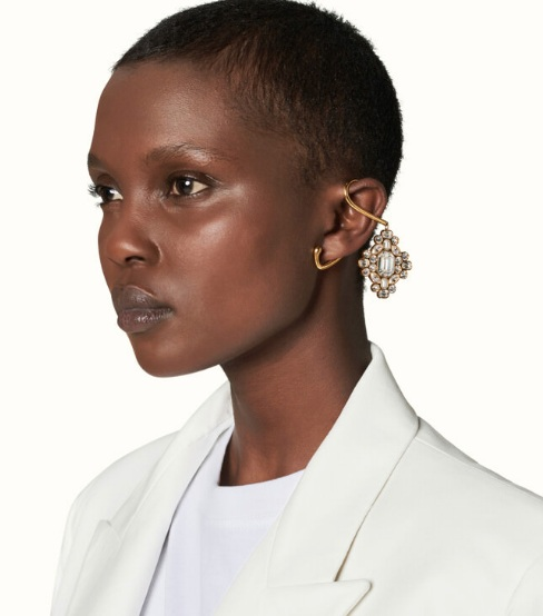 ROPED IN EAR CUFFS SHORT PENDANTS Picture Credit: Fenty.com