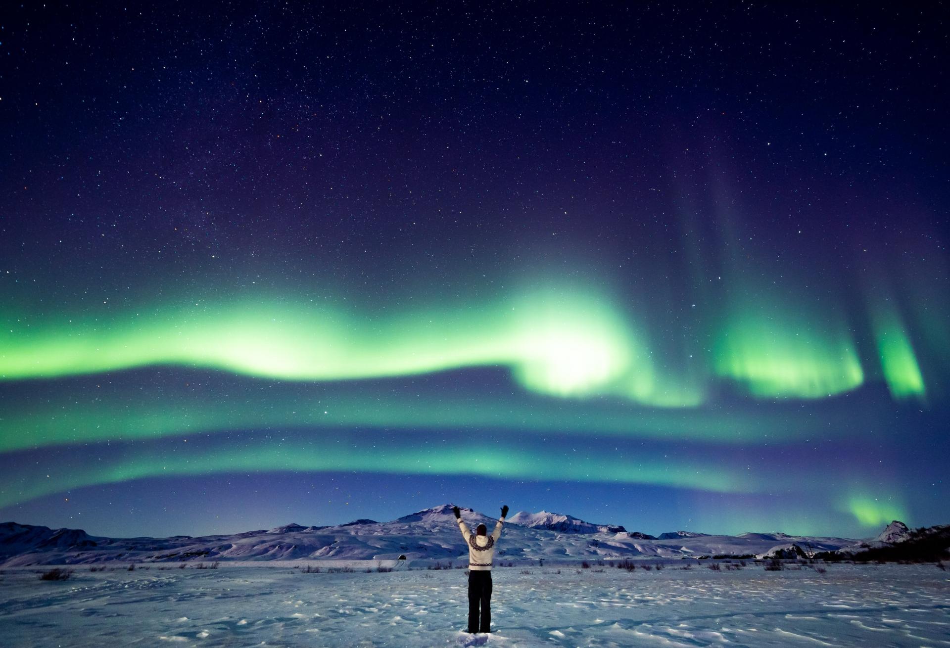 Aurora in Þórsmörk