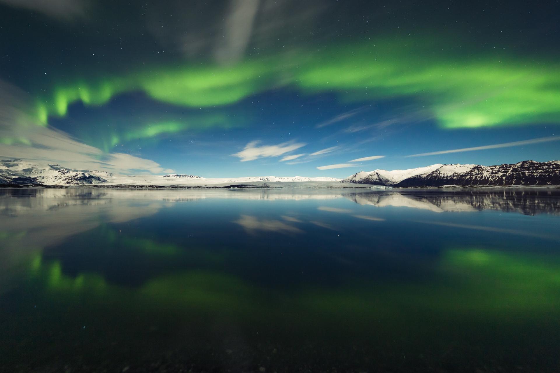 Ice Lagoon Aurora
