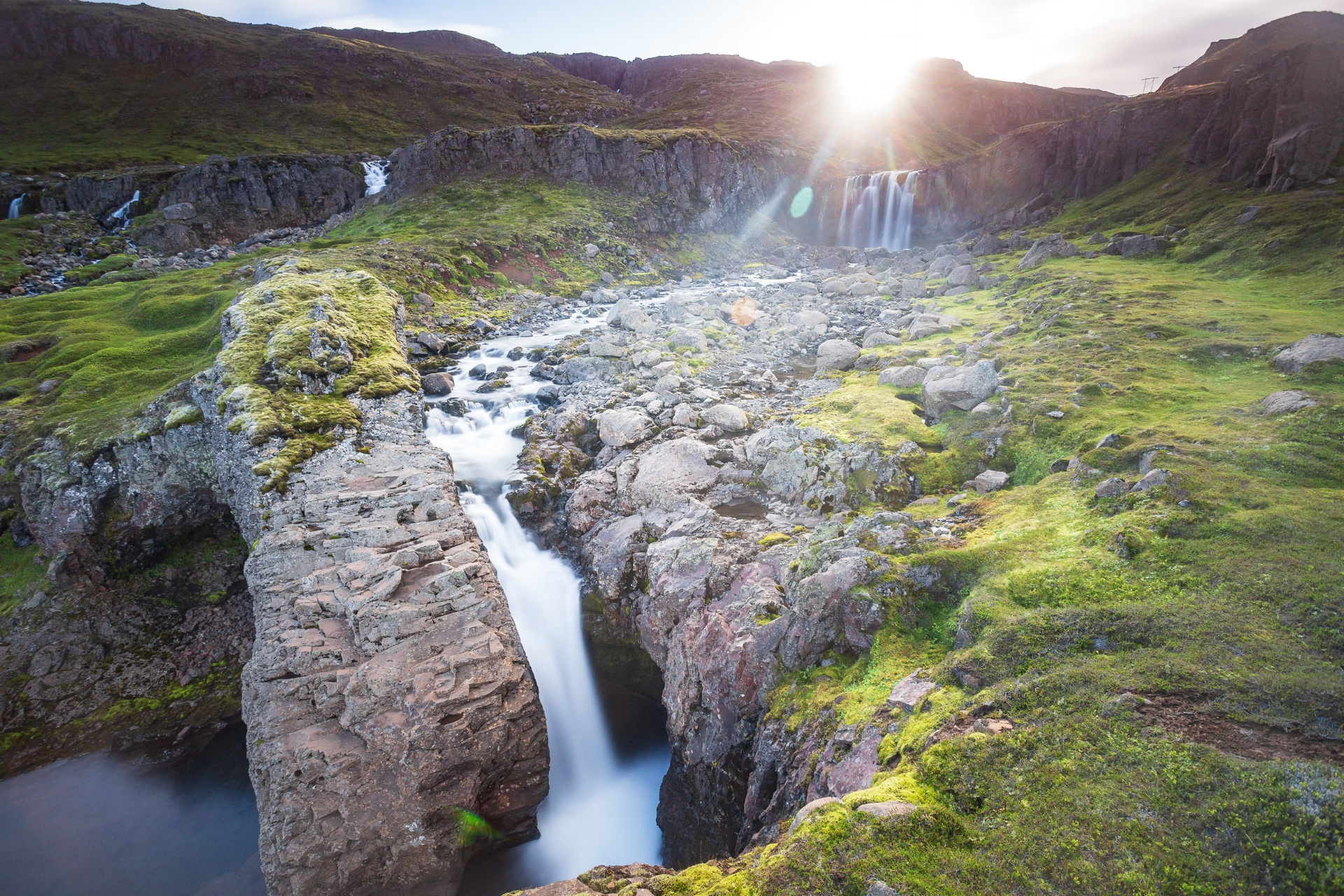 Seyðisfjörður is one of the most beautiful fjords in the East. There are a number of waterfalls along the way down to the town, only reachable on foot. Definitely worth the hike.