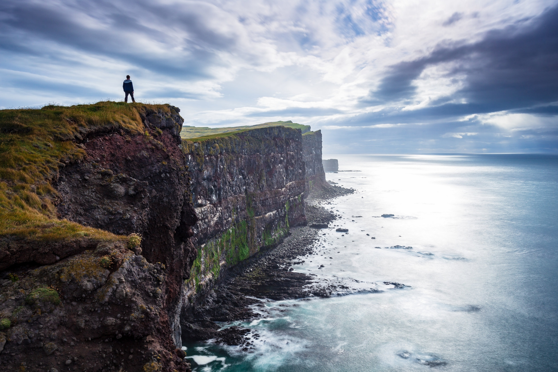 The cliffs at Látrabjarg in the West Fjords are a sight to behold. This is the western most point of Iceland and Europe.
