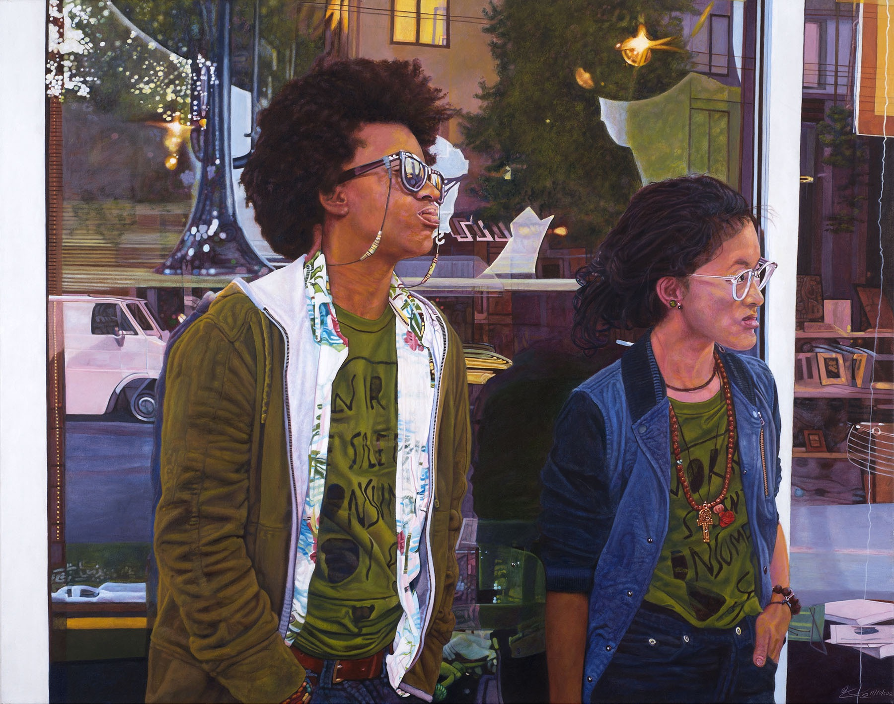 Lenore Chinn, Veuxdo in the Fillmore (2012); acrylic on canvas. Copyright © Lenore Chinn.