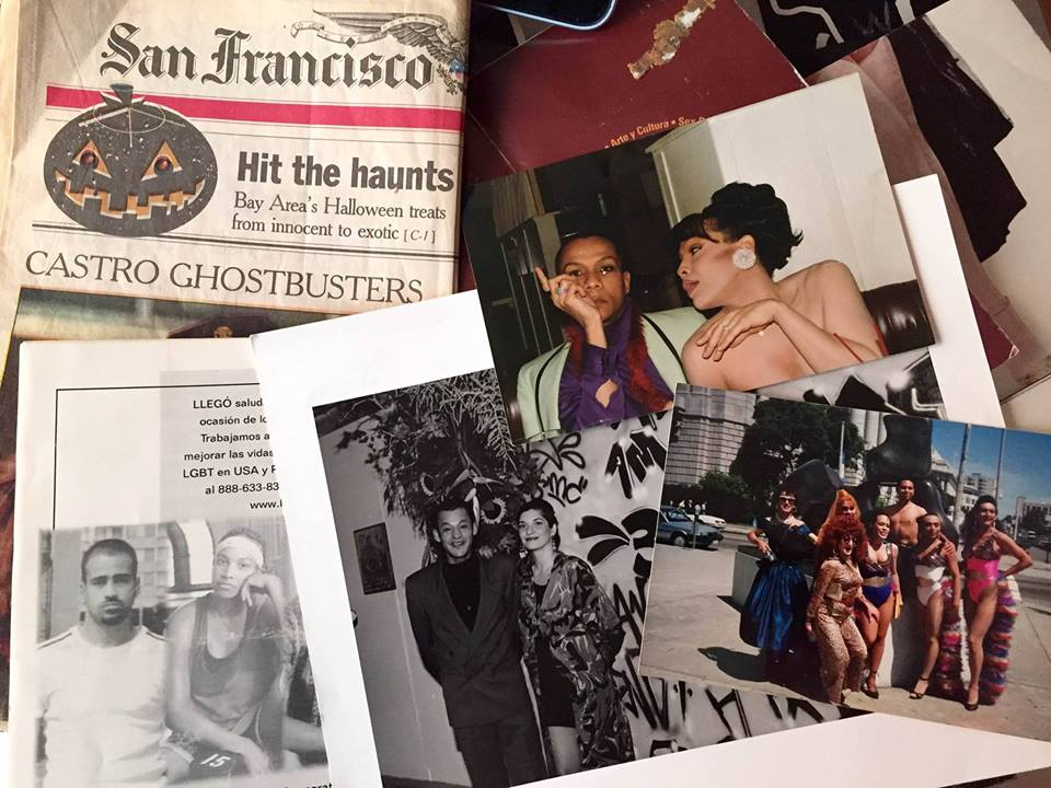 A sampling of the Adela Vázquez papers documenting San Francisco's LGBTQ Latino scene from the 1980s and 1990s; collection of Juliana Delagado Lopera.