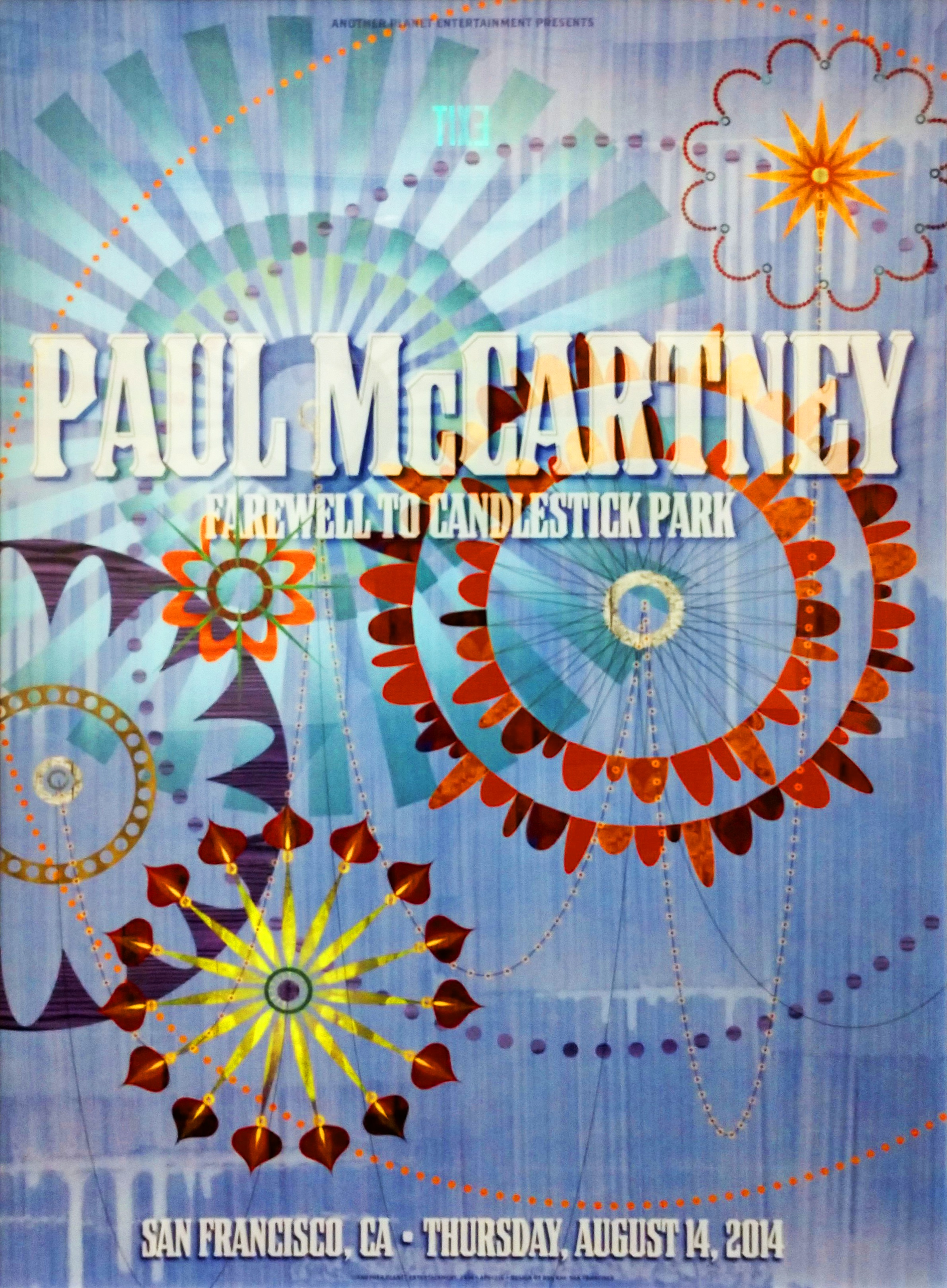 Poster for a Paul McCartney concert (2014), Rex Ray Graphic Art Collection, GLBT Historical Society, gift of the Estate of Rex Ray.