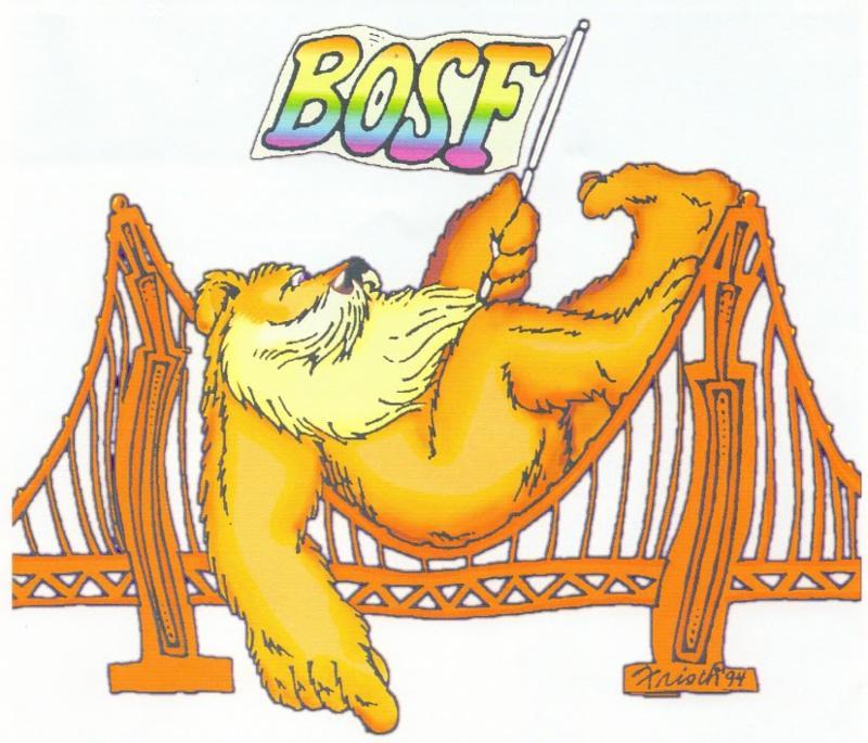 Bears of San Francisco logo designed by Fran Frisch (1994). Courtesy of  Bears of San Francisco .