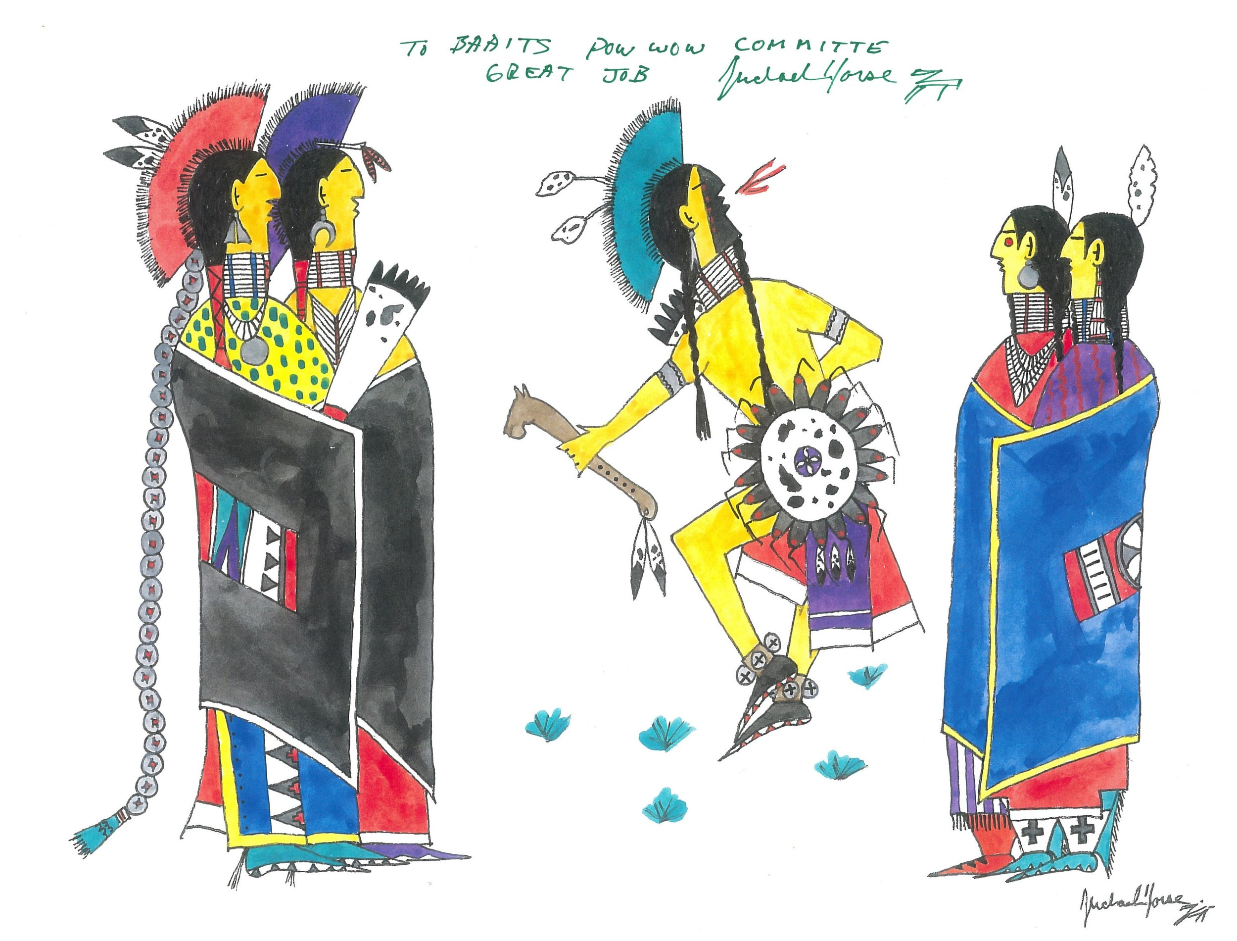 Michael Horse, Artwork for BAAITS's First Annual Two-Spirit Powwow (2012), used with permission.