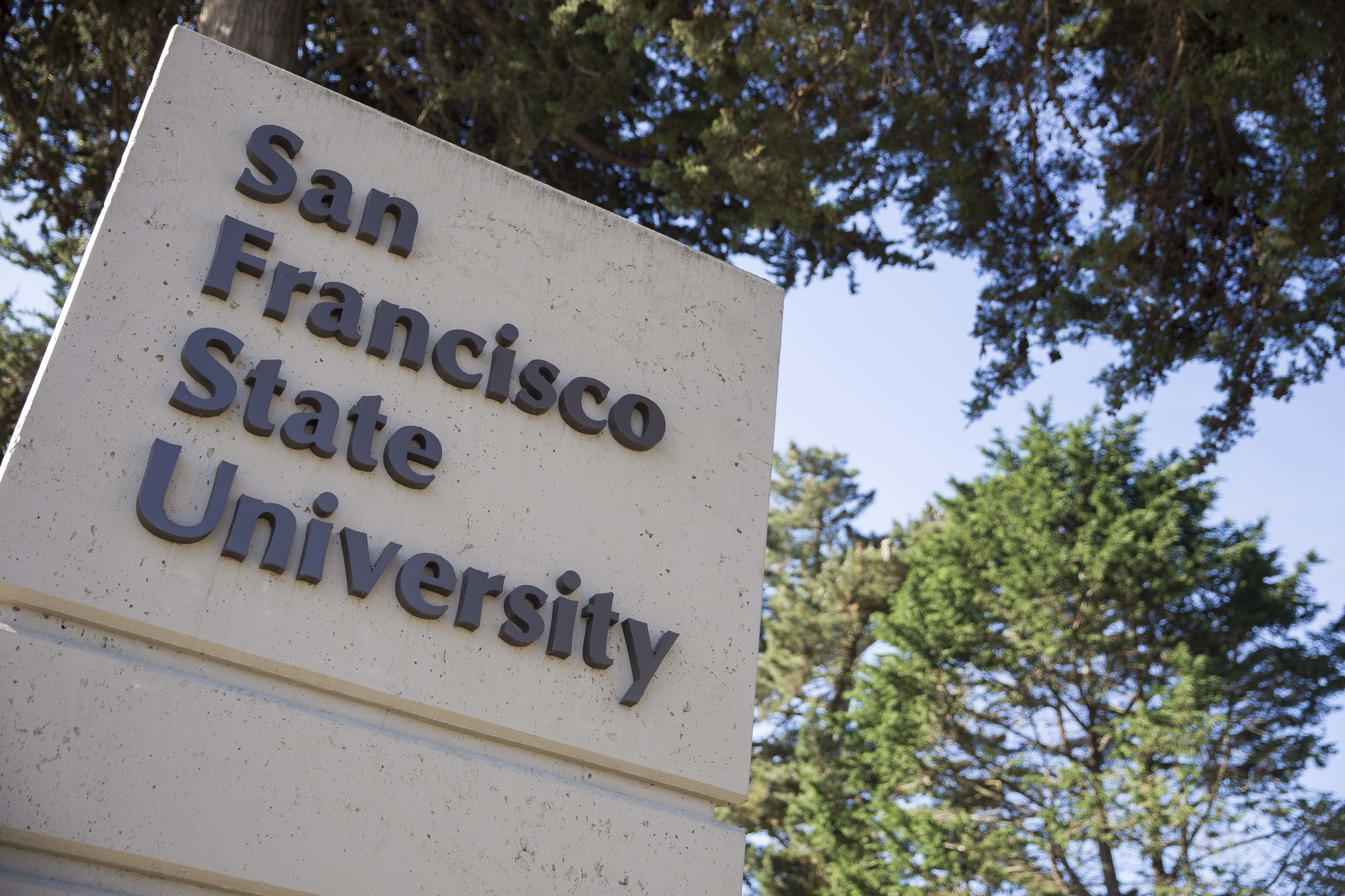 Entrance to SFSU.  Courtesy SF State Strategic Marketing & Communications.
