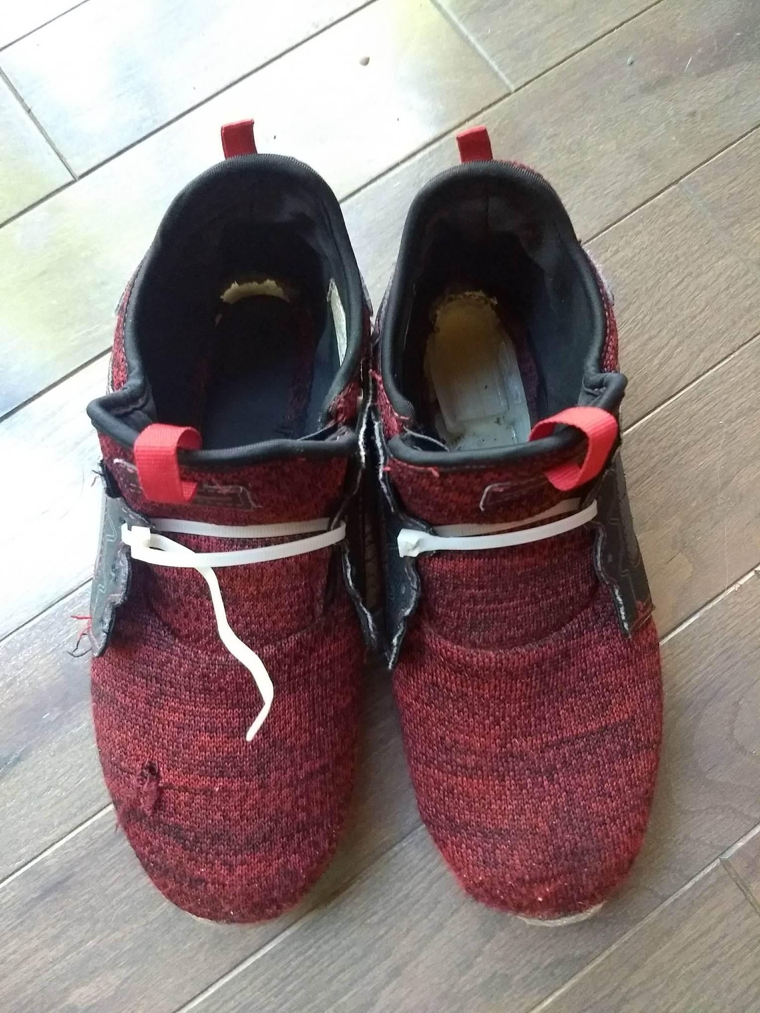 zip tied shoes.JPG