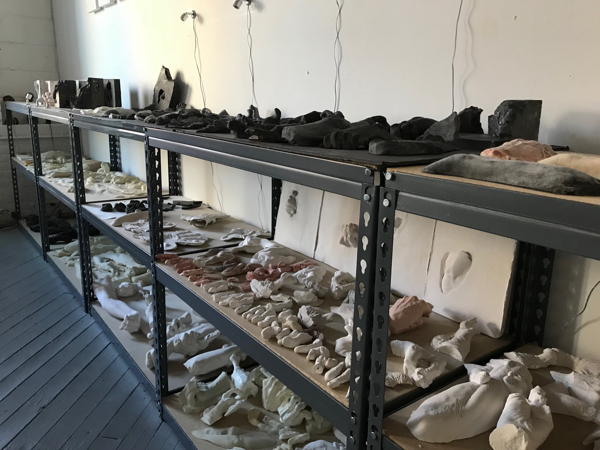 Wendy Richmond hand sculpture excavation inventory
