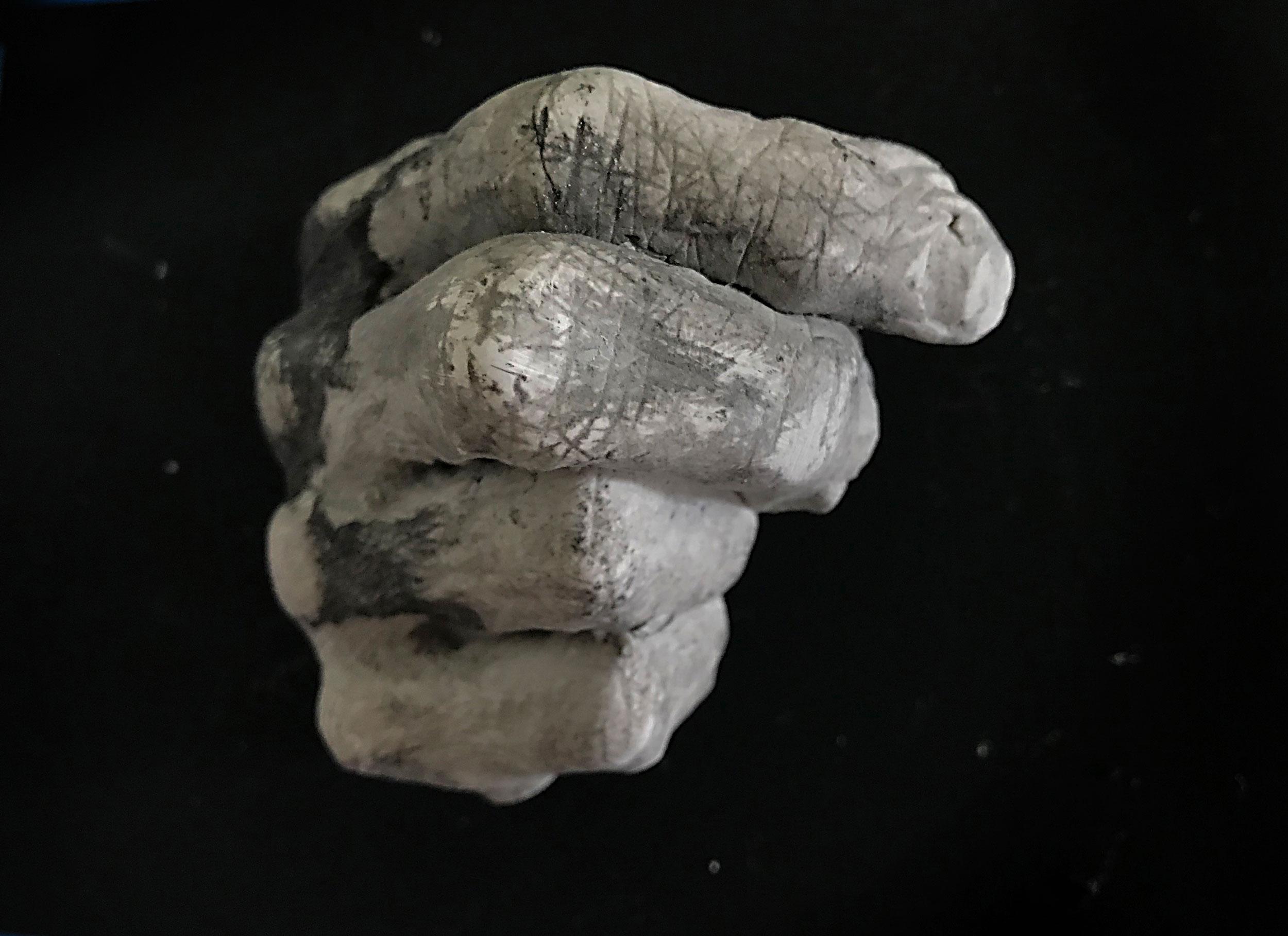 Wendy Richmond hand sculpture fist excavation