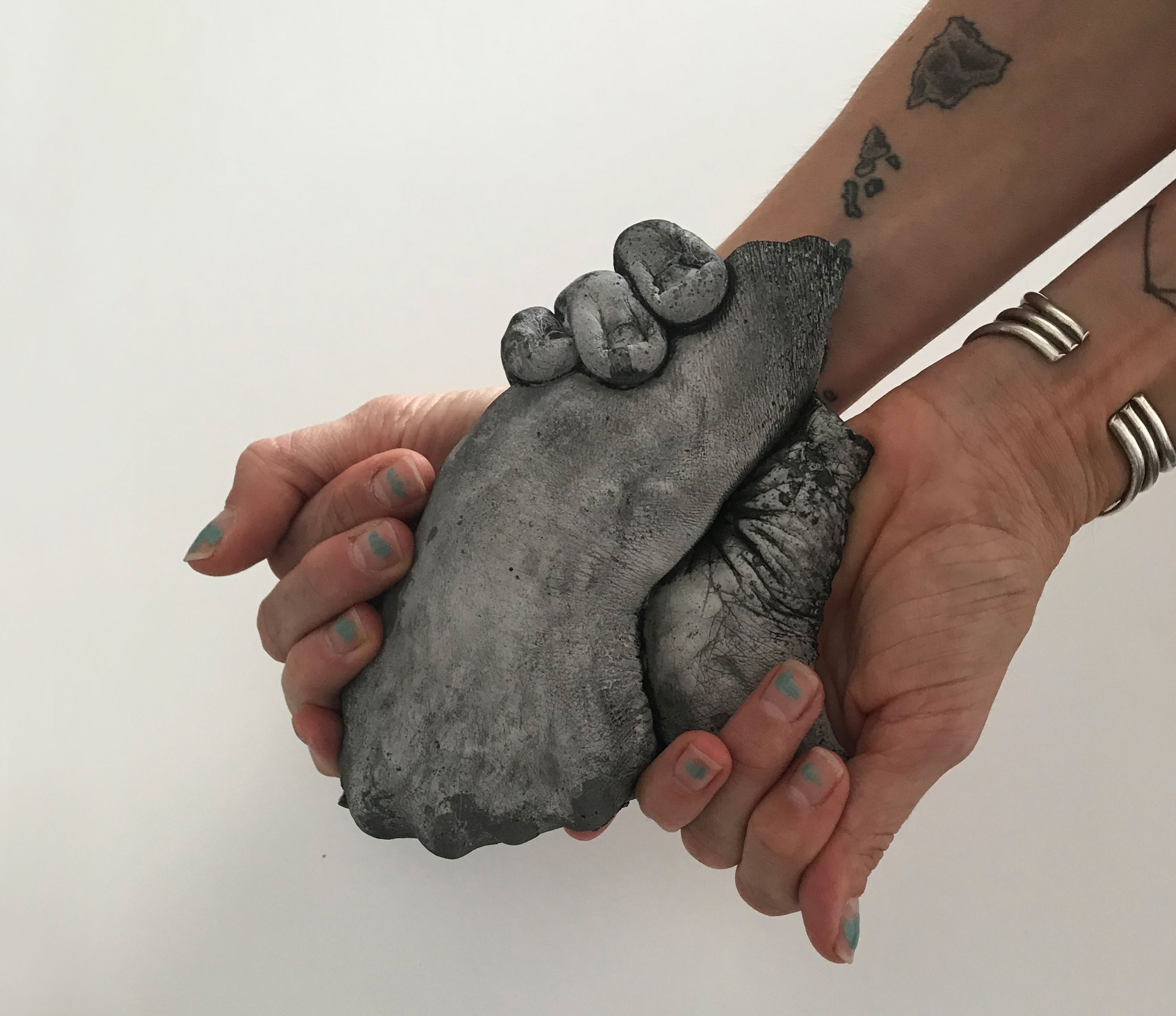 Wendy Richmond hand sculpture My hands in Marne's