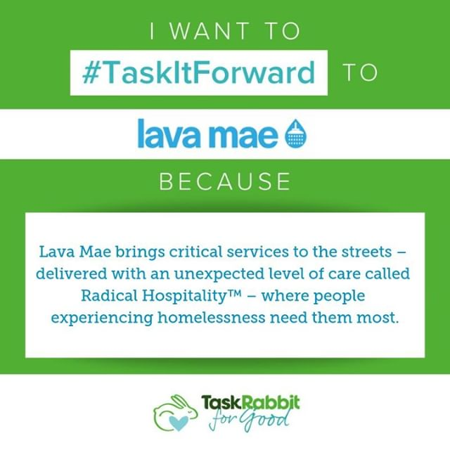 Don't know what to get us for the holidays? 🎁  Tell TaskRabbit why we are your favorite community organization by sharing and commenting this post with #TaskItForward to help us win $1,000!  Tag us and @TaskRabbit in your post and use #TaskItForward before 12/18 to get in the giving spirit – free for you, $1,000 for us!  We Lava Your Support! 💙