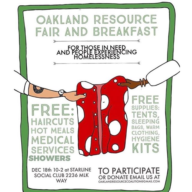 We're excited to provide showers next Tuesday at the Starline Social Club in Oakland.
