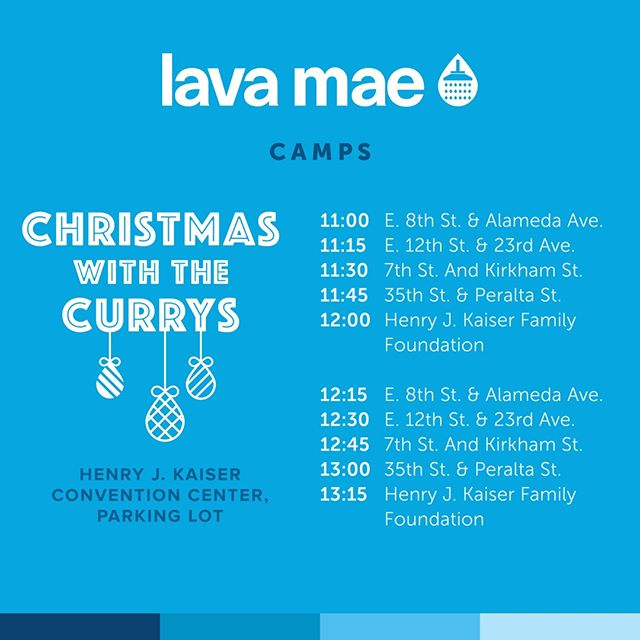 We will have a shuttle service picking up our unhoused neighbors to join us for Christmas With the Curry's. Our shuttle service will run between 11am - 1:15pm in Oakland tomorrow. Please share with your unhoused neighbor and we look forward to this amazing event. Thank you!