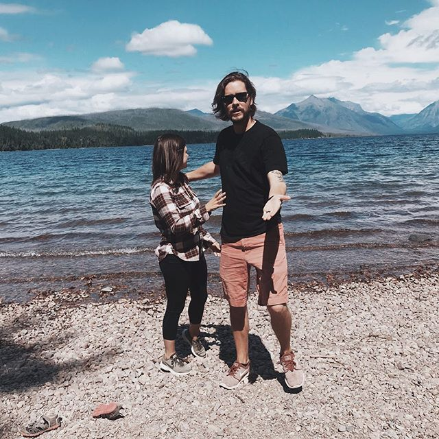 "This edition of ""Titus took these pictures"" is strong.  I love seeing all of these gorgeous places with this guy, but our in house photographer needs some practice 😂  We got a little taste of Glacier National Park today and will be back over the next several days to see more of this beautiful place."