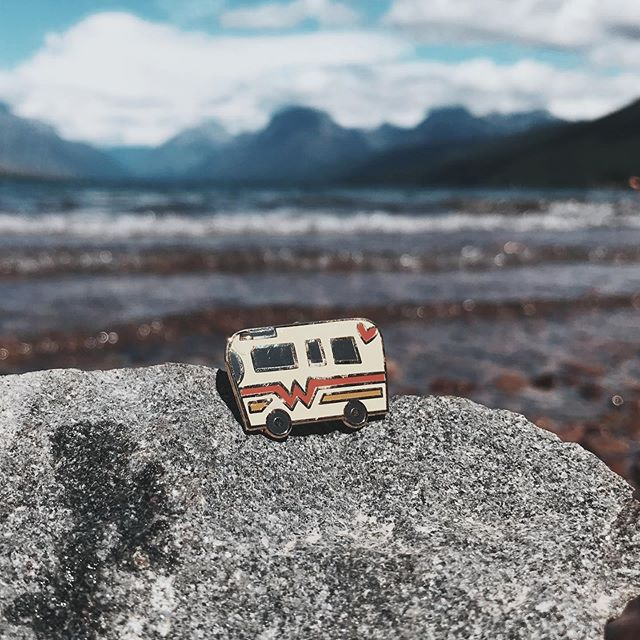 When you find that perfect boondocking spot.  These little guys and the other pins will be back in the @raisingbravedesigns Etsy shop at the end of the month.  For now, they are just busy posing in some of the most beautiful places on Earth.