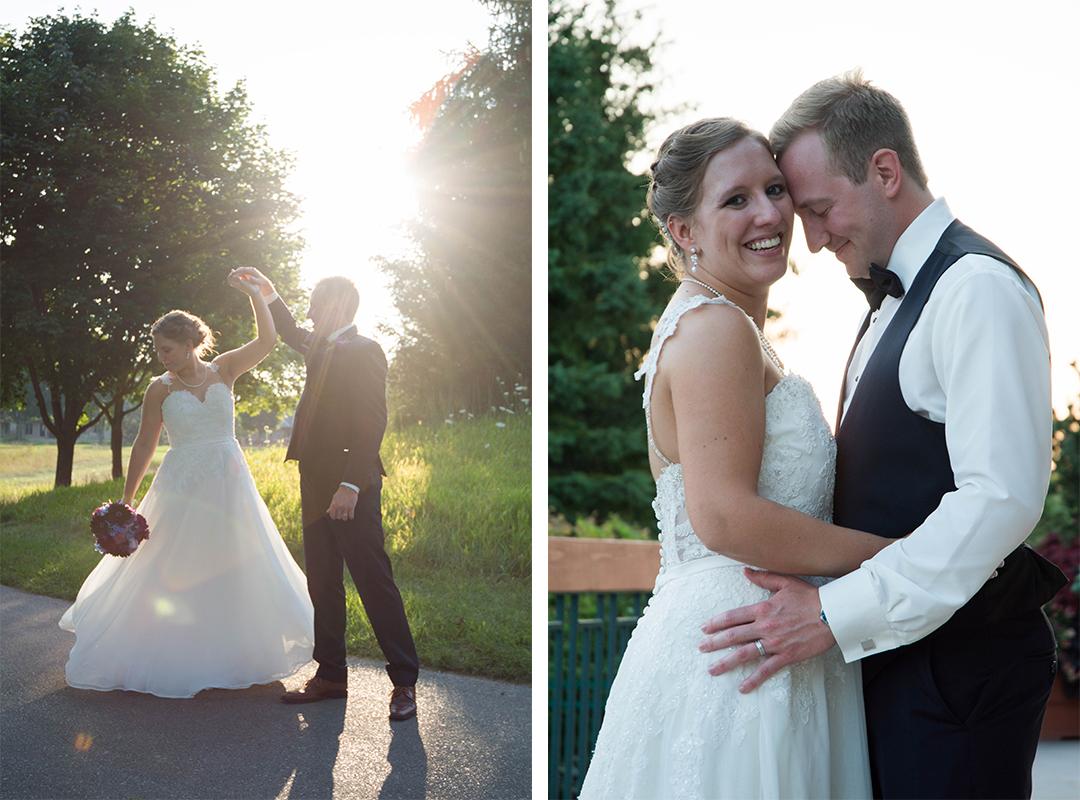 Sunset Wedding Pictures, Wisconsin Wedding Photographer, The Legends in Hartland