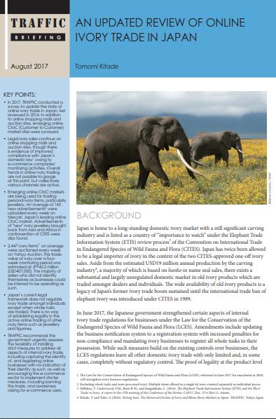 Update: Online Ivory Trade in Japan