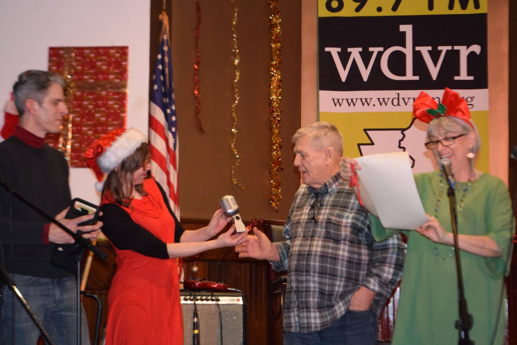 Charlie being honored for his contribution to WDVR