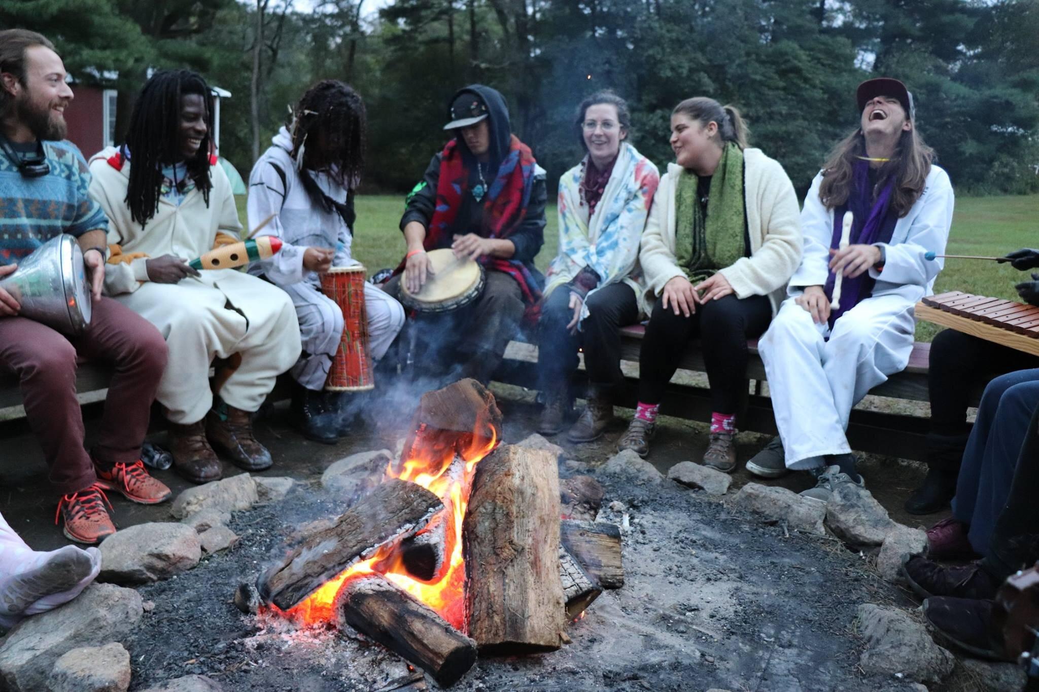 beauty in the backyard 2019 maryland ramblewood retreat sustainability music art food community environment fun camp fire