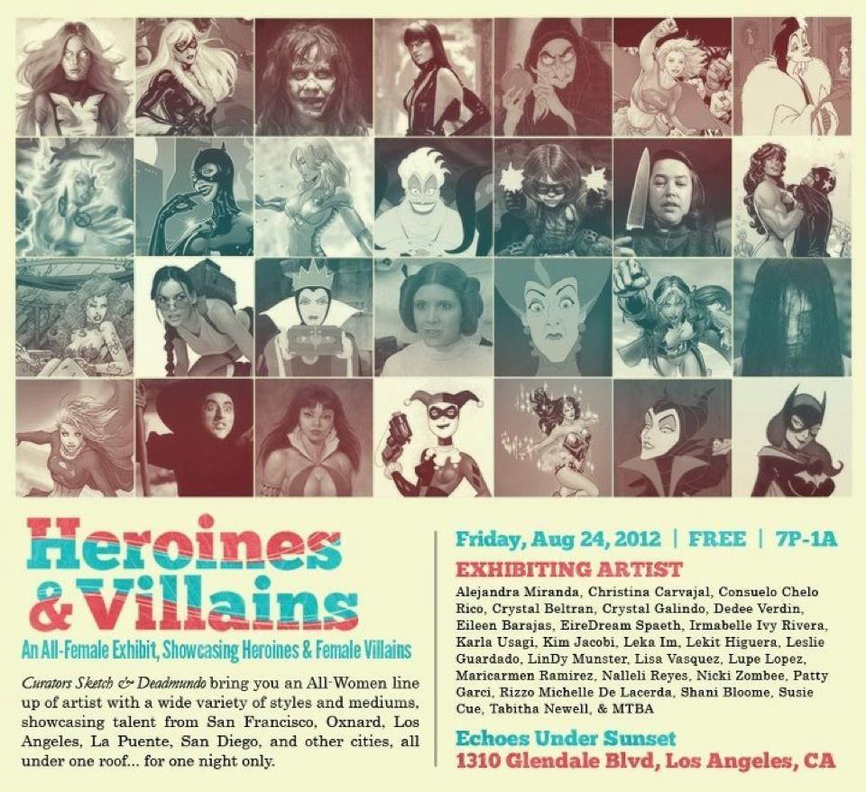 Heroines and Villains Art Show - August 2012.JPG