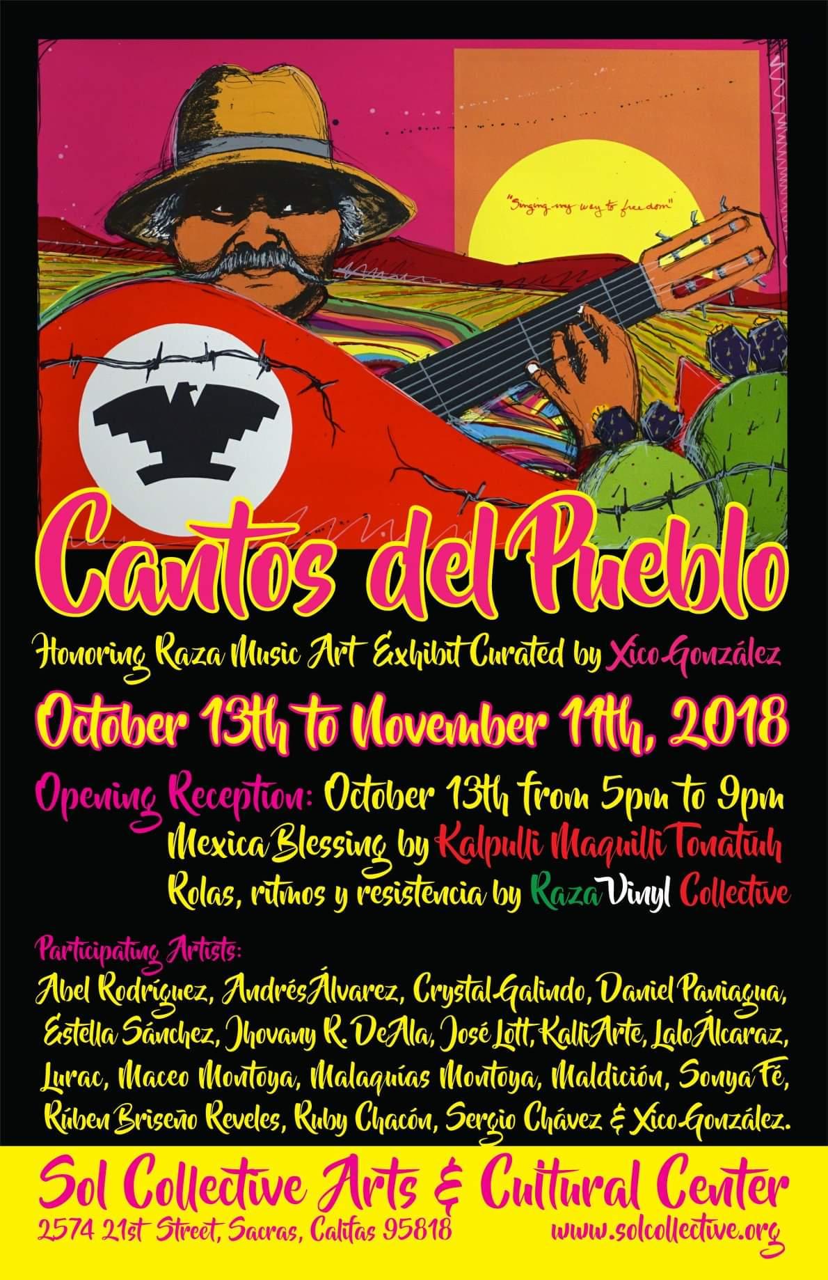 Cantos del Pueblo Art Show - Sacramento CA