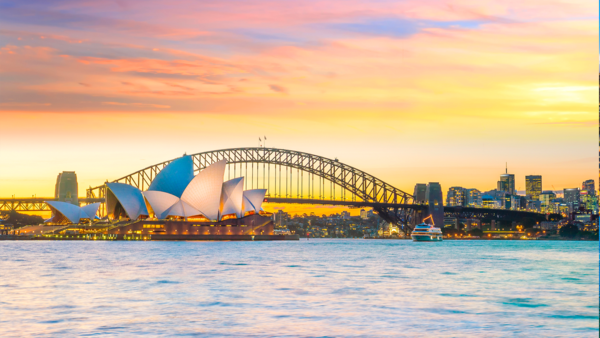 Visit iconic landmarks like the Sydney Opera House -