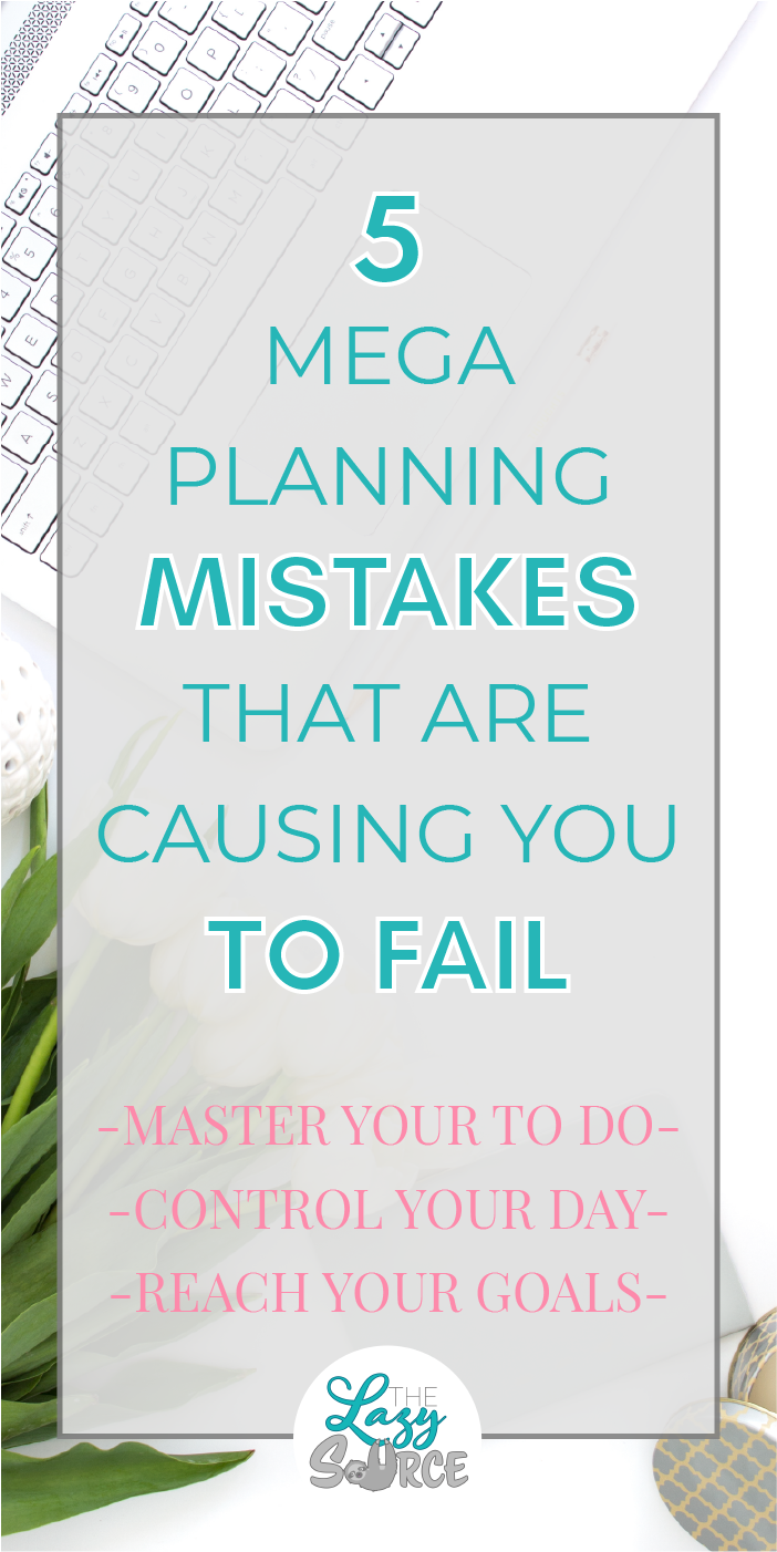 Most of us love to plan, but getting those plans to lead to results is another story! Check out these 5 planning mistakes that could be causing you to fail - diagnose your own planning problem so you can figure out how to finally knock out your blog to-do list!