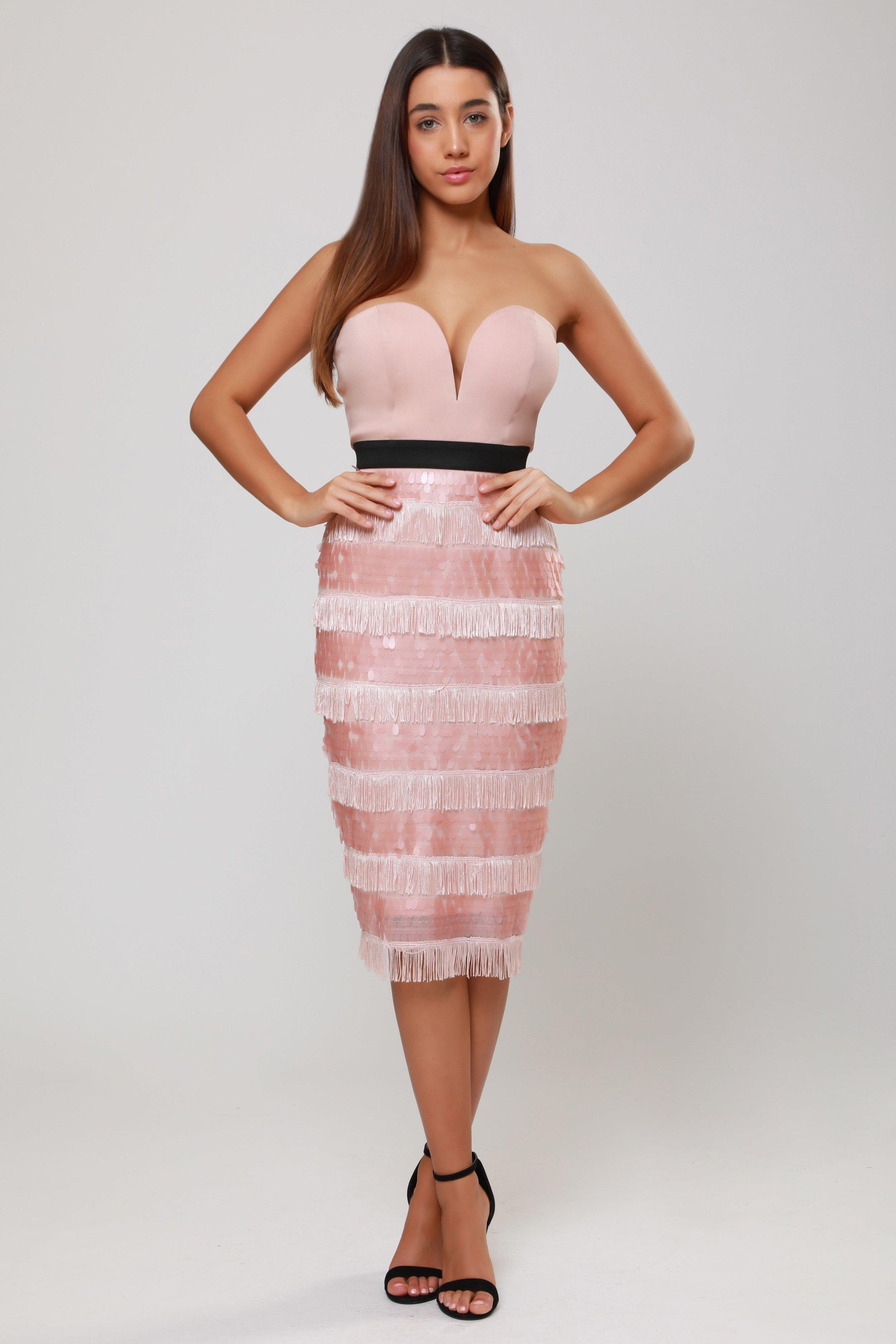 Sequin Fringe  Midi Dress   £75.00