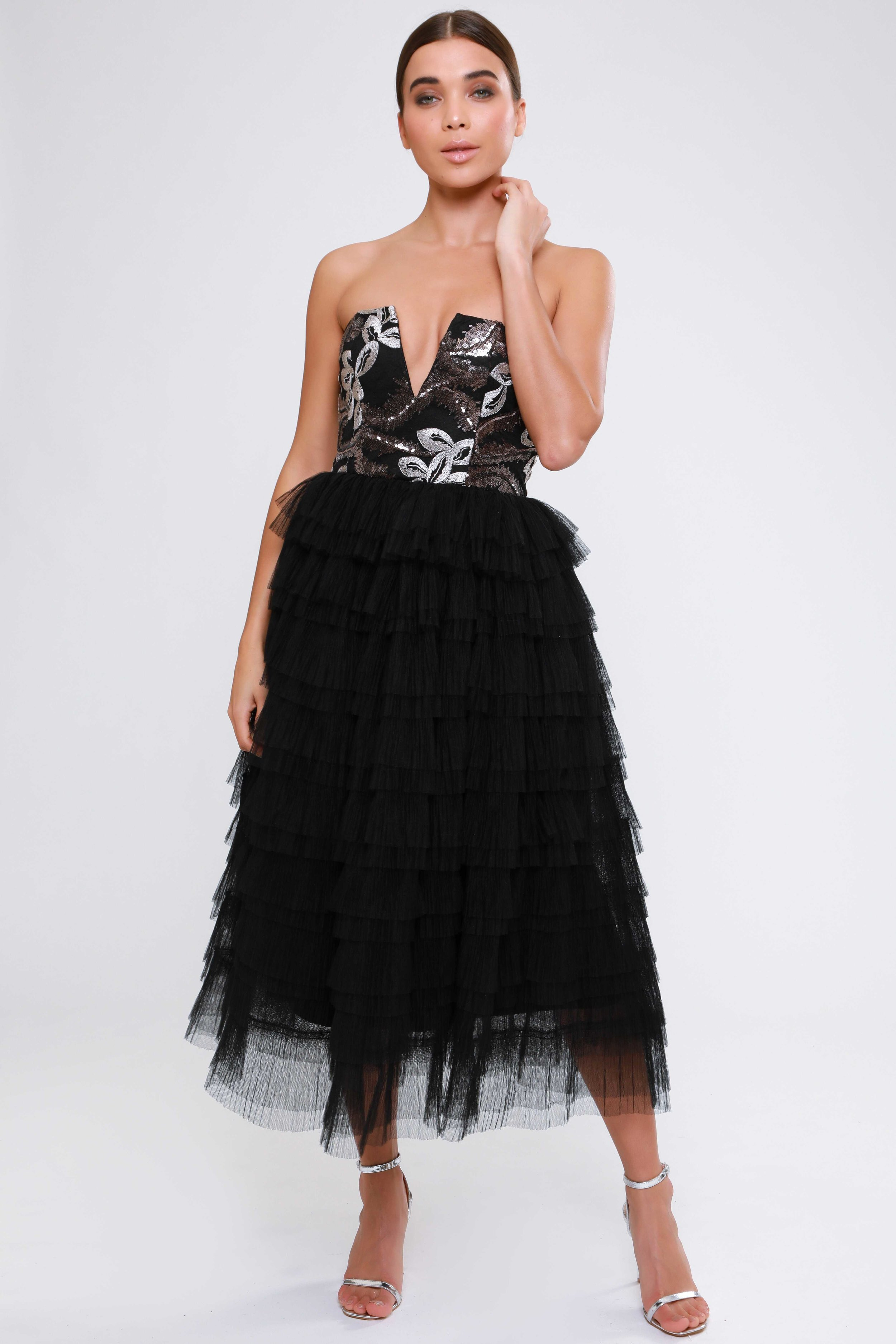 Sequin Embroidered  Mesh Tutu Dress   £79.00