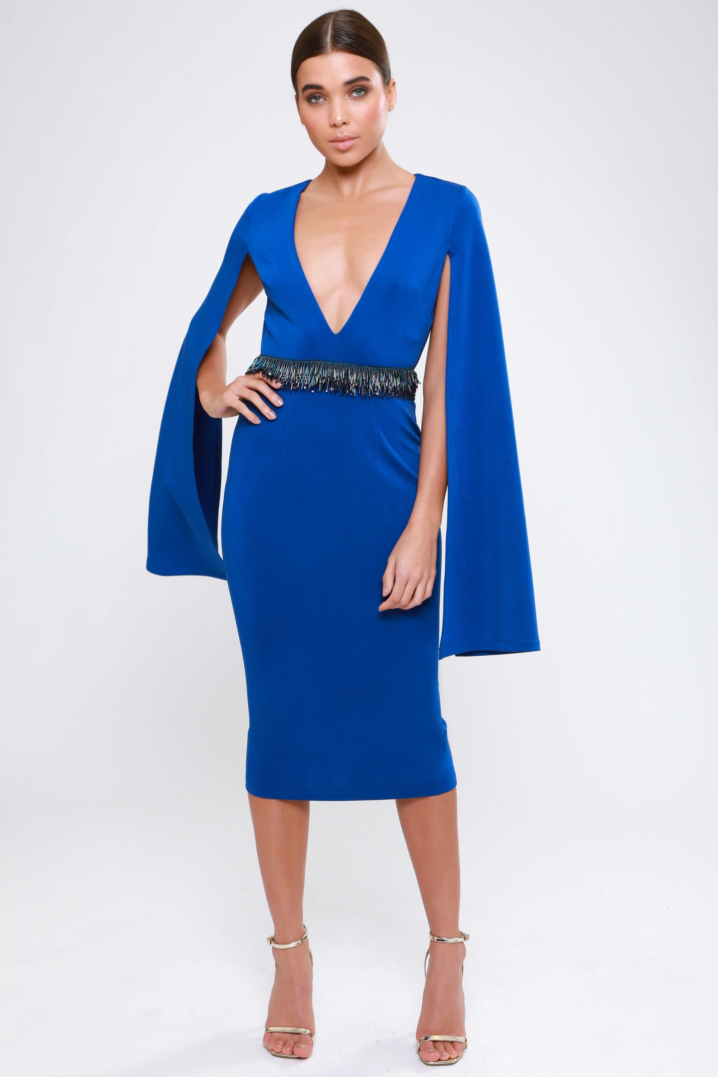 Split Sleeve  Midi Dress   £62.00