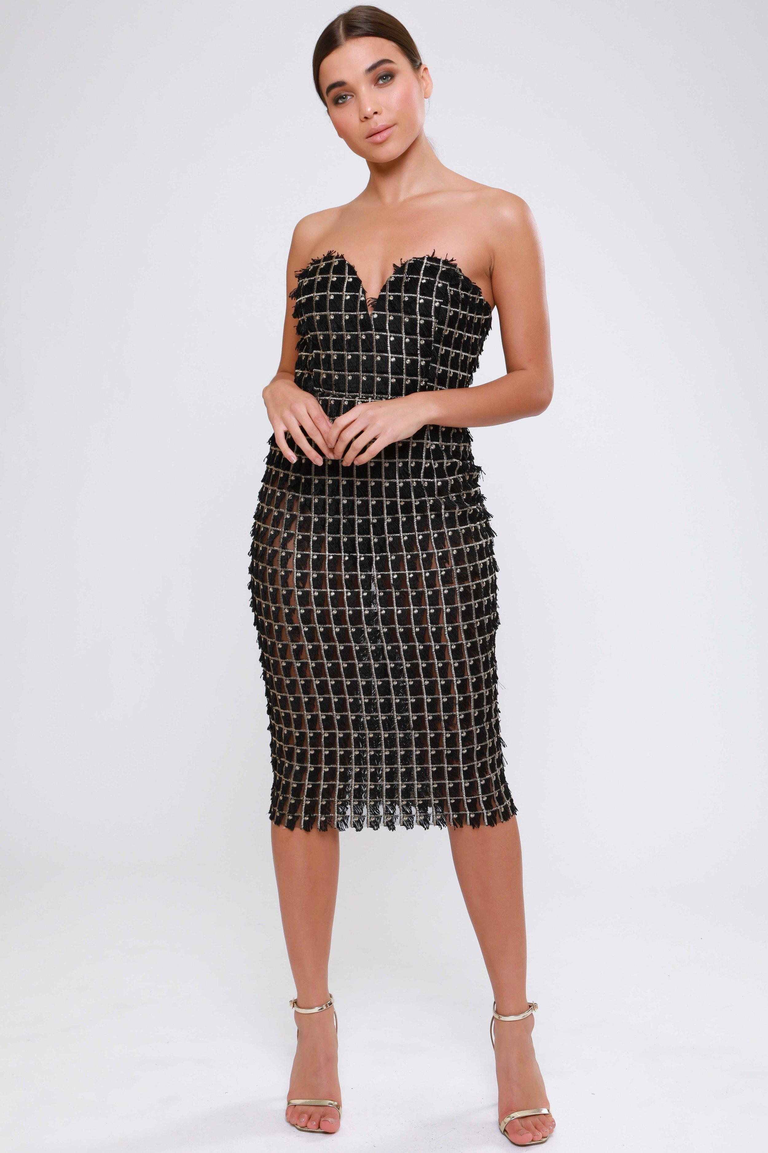 Textured Sweetheart  Midi Dress   £75.00