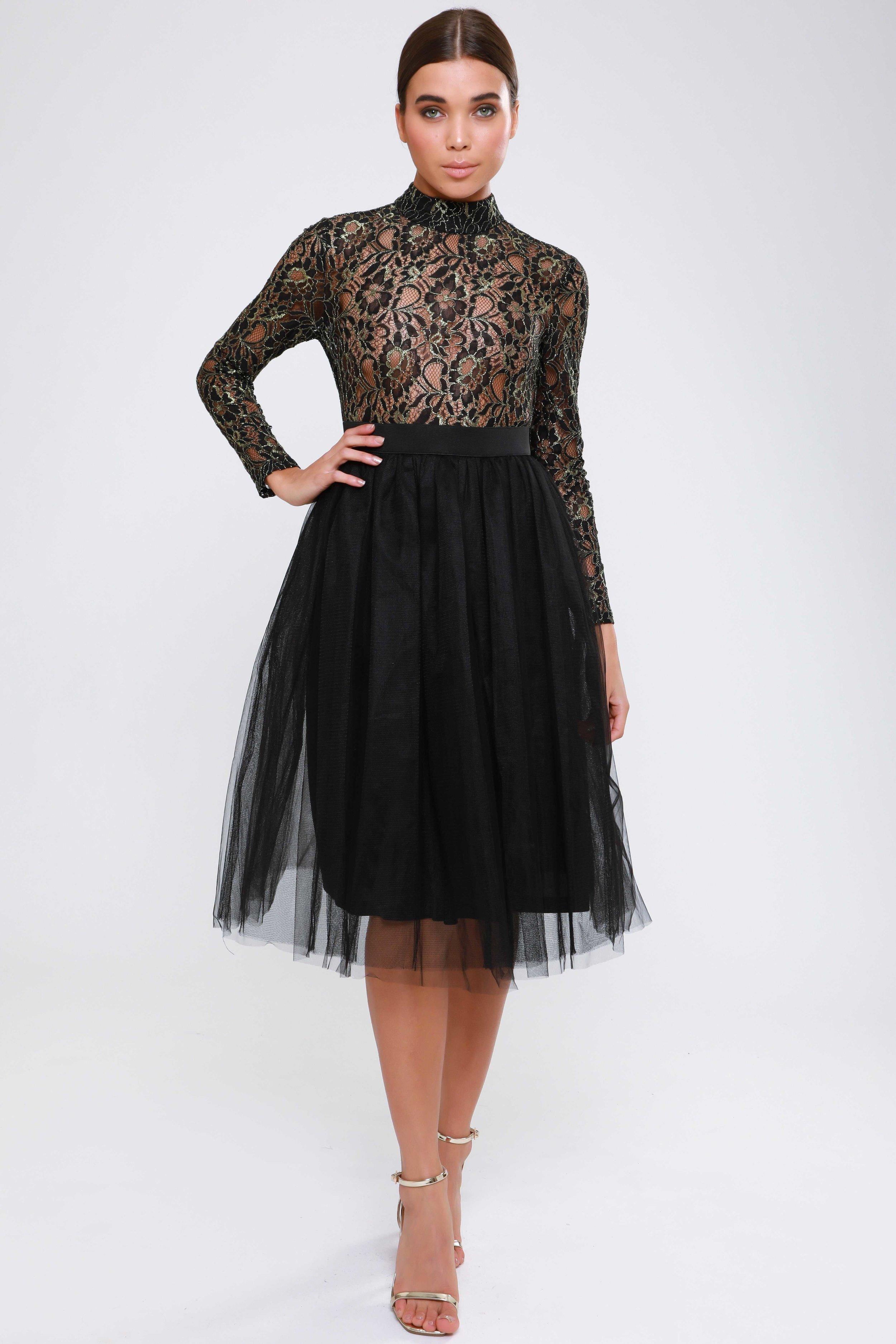 Metallic Lace  Tutu Dress   £75.00