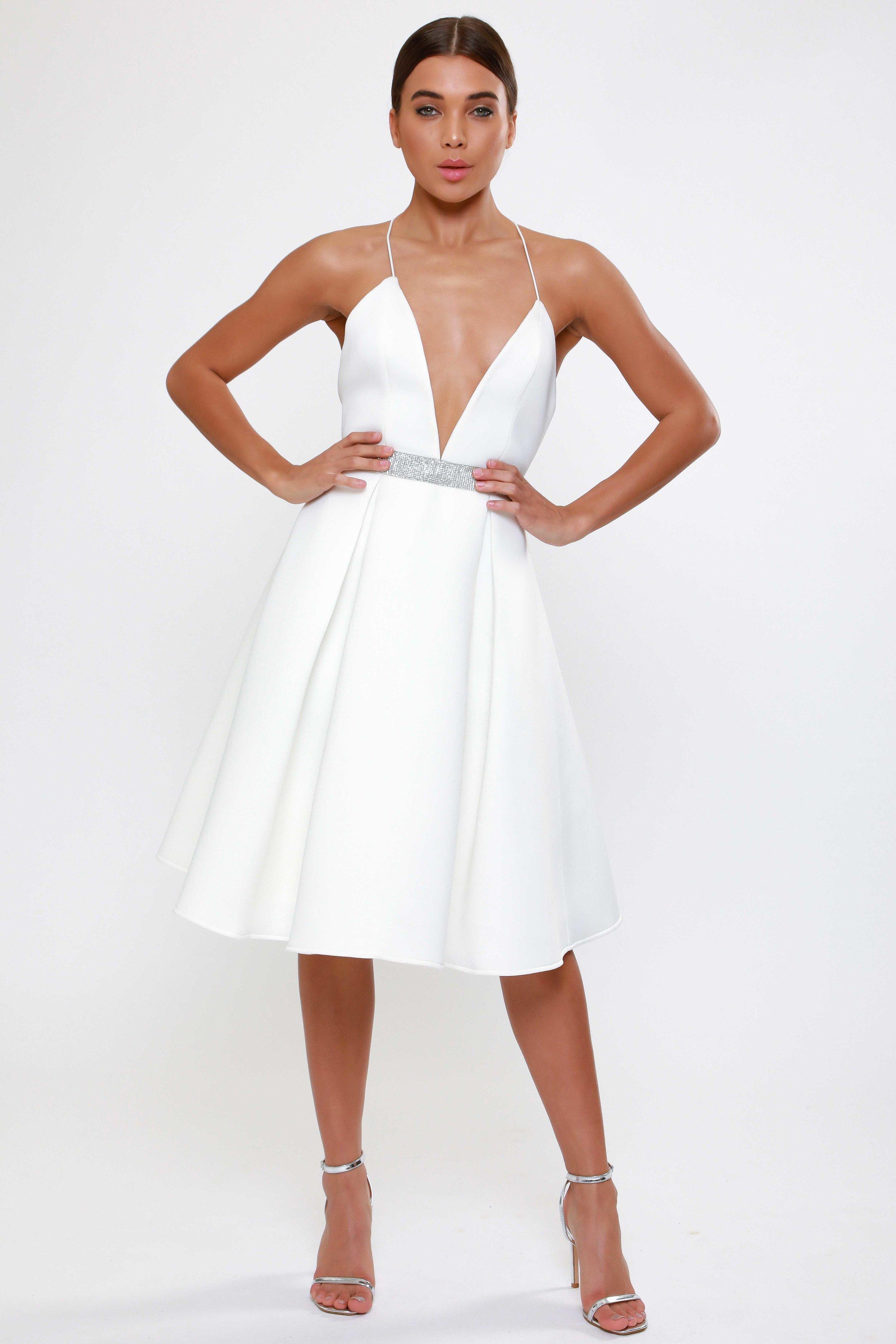 Plunge Scuba  Prom Dress   £65.00